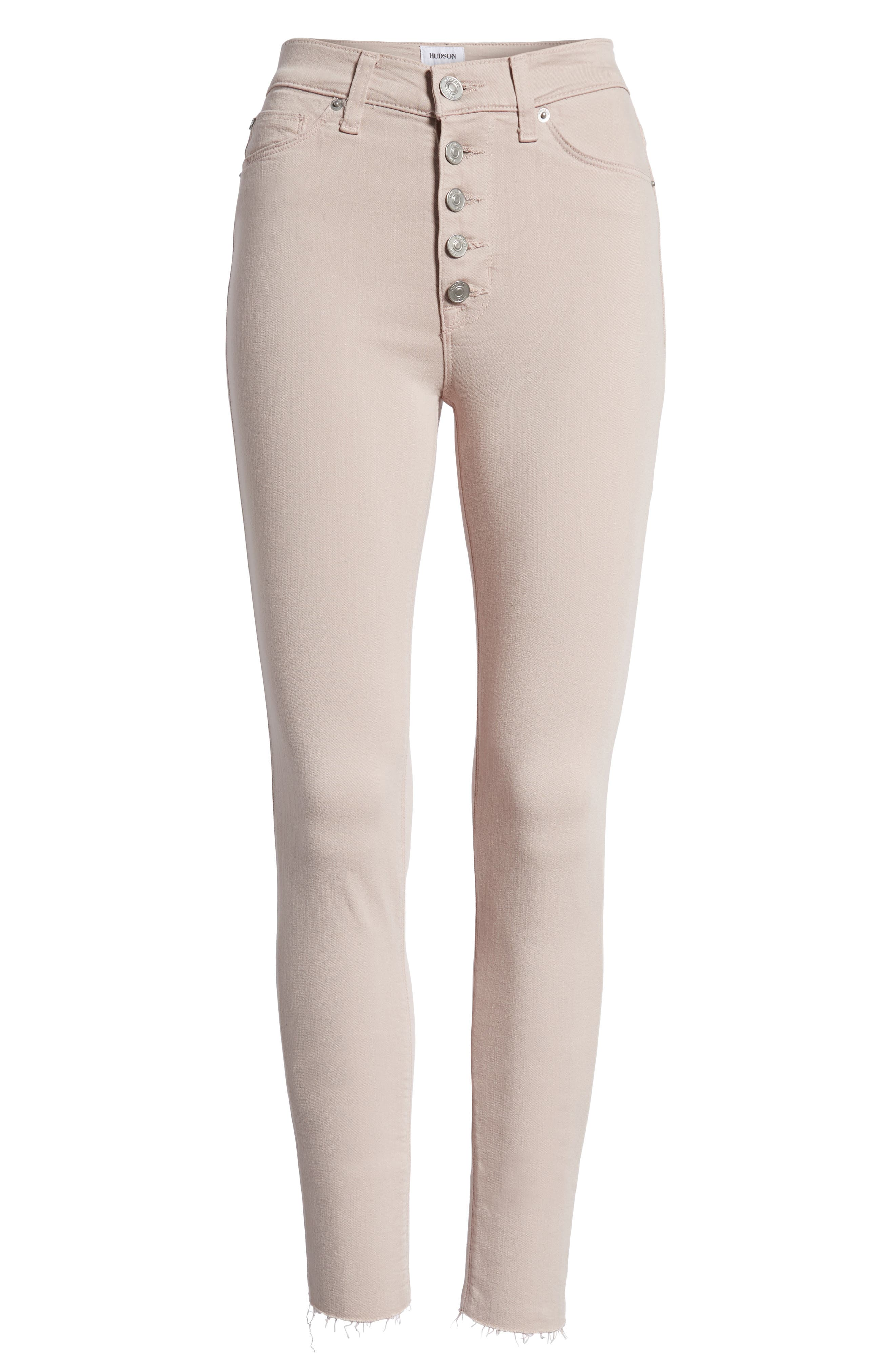 Barbara High Waist Raw Hem Ankle Skinny Jeans,                             Alternate thumbnail 7, color,                             681
