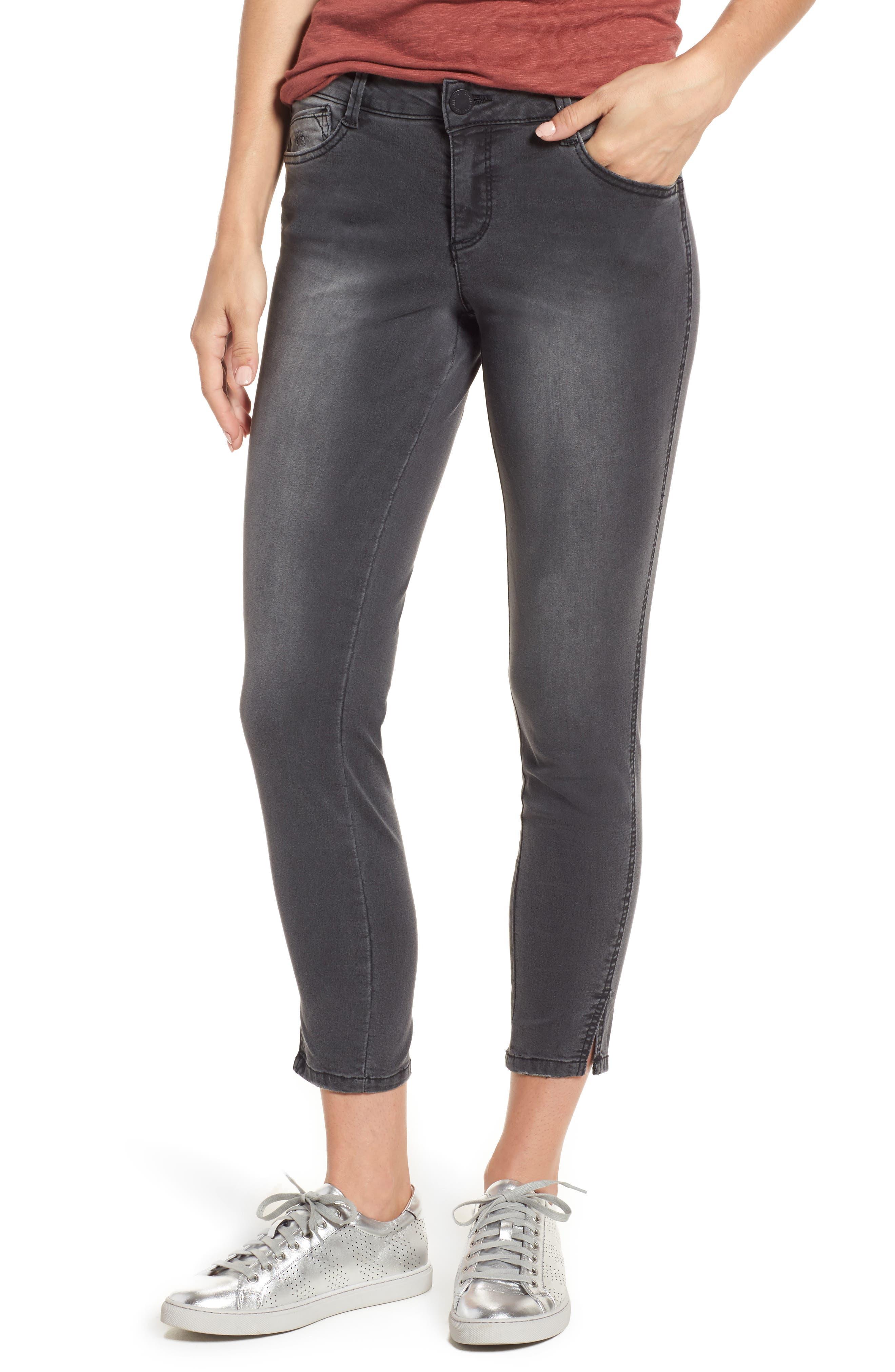 Slit Skinny Ankle Jeans,                             Main thumbnail 1, color,                             020