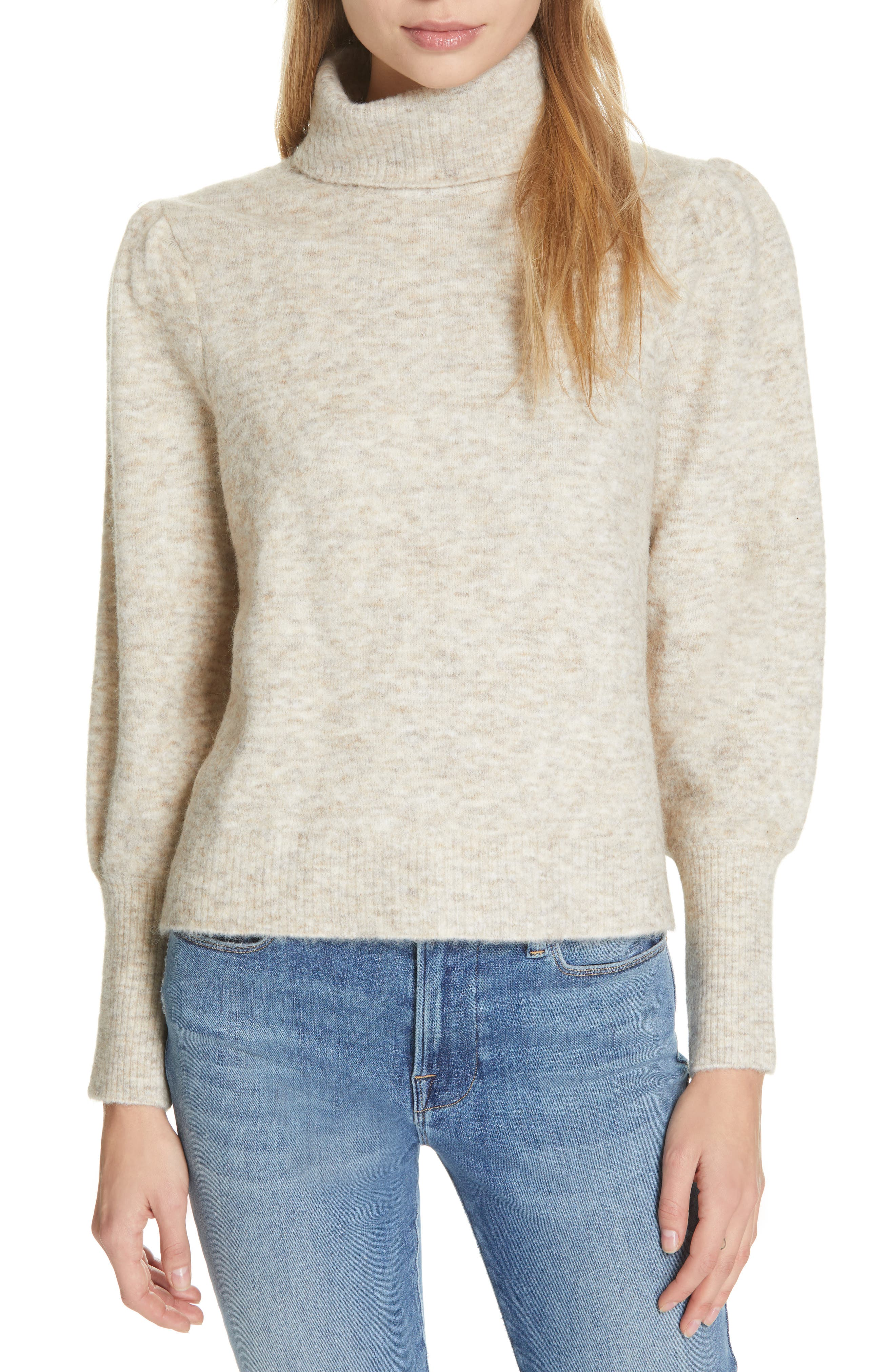 Swingy Turtleneck Sweater,                         Main,                         color, OATMEAL