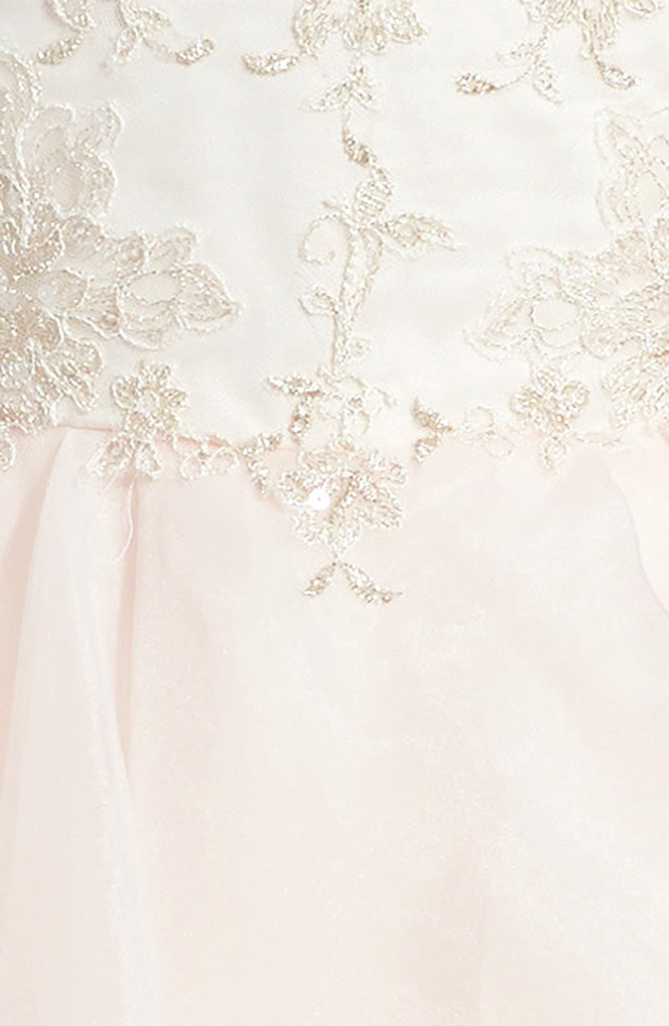 Tulle & Organza Dress,                             Alternate thumbnail 3, color,                             900