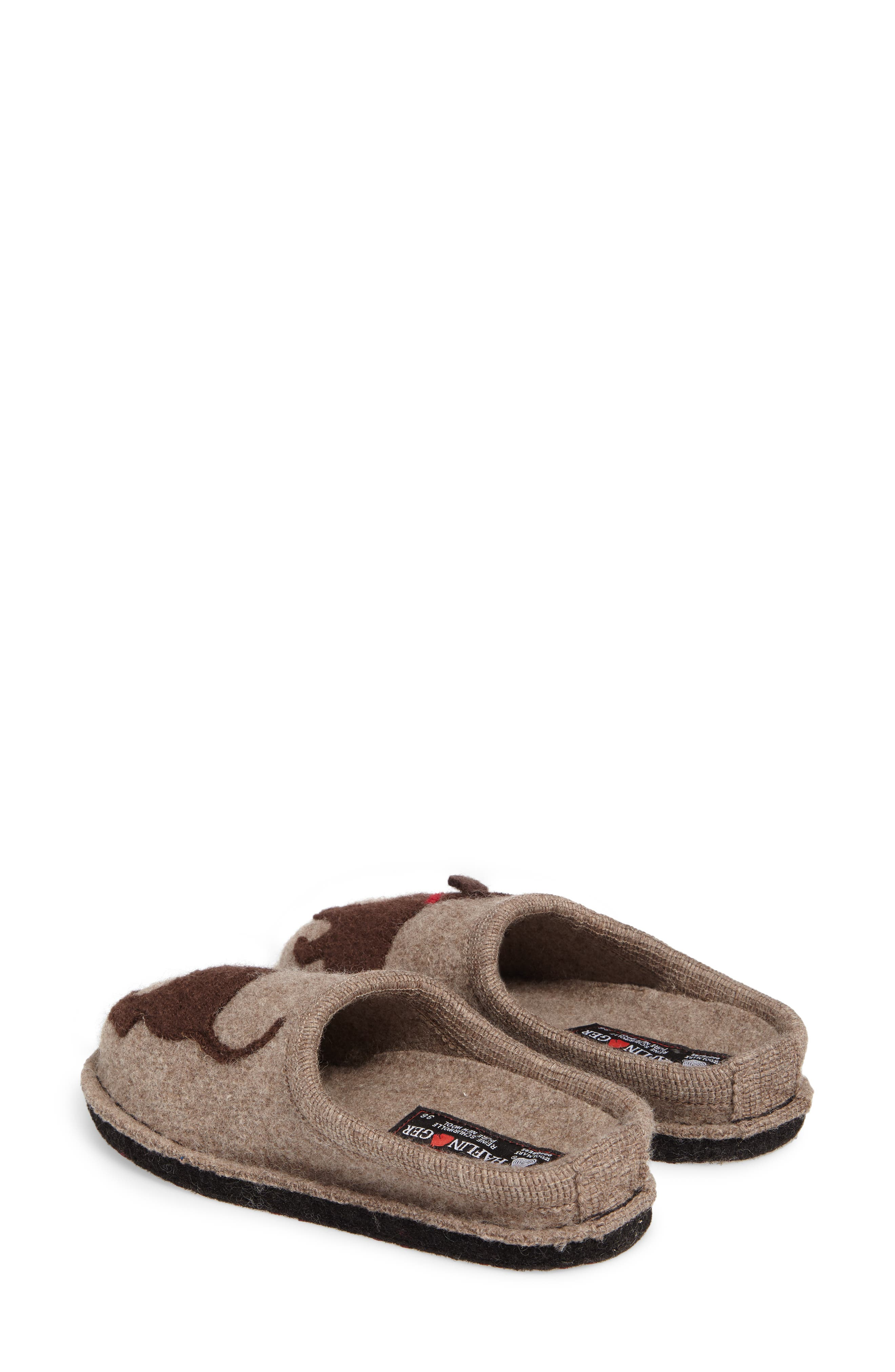 'Doggy' Slipper,                             Alternate thumbnail 4, color,                             EARTH