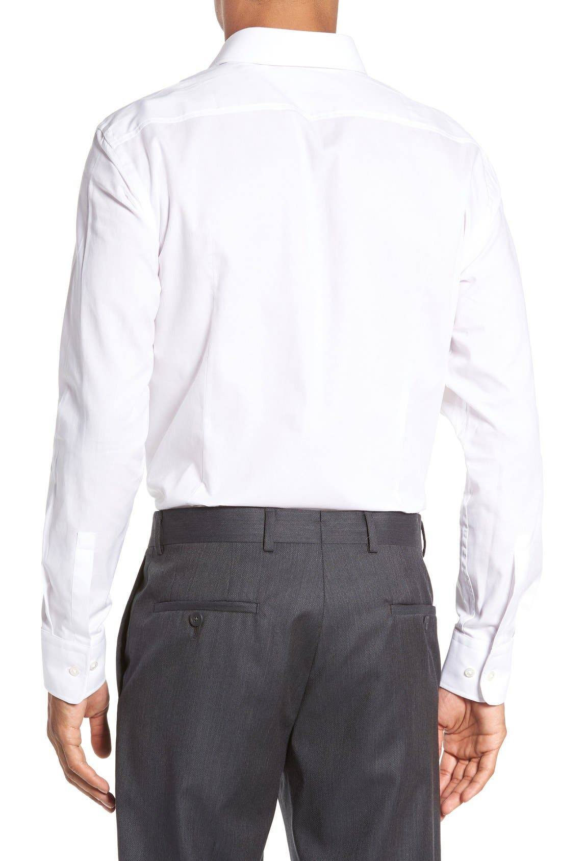 Sharp Fit Solid Dress Shirt,                             Alternate thumbnail 12, color,
