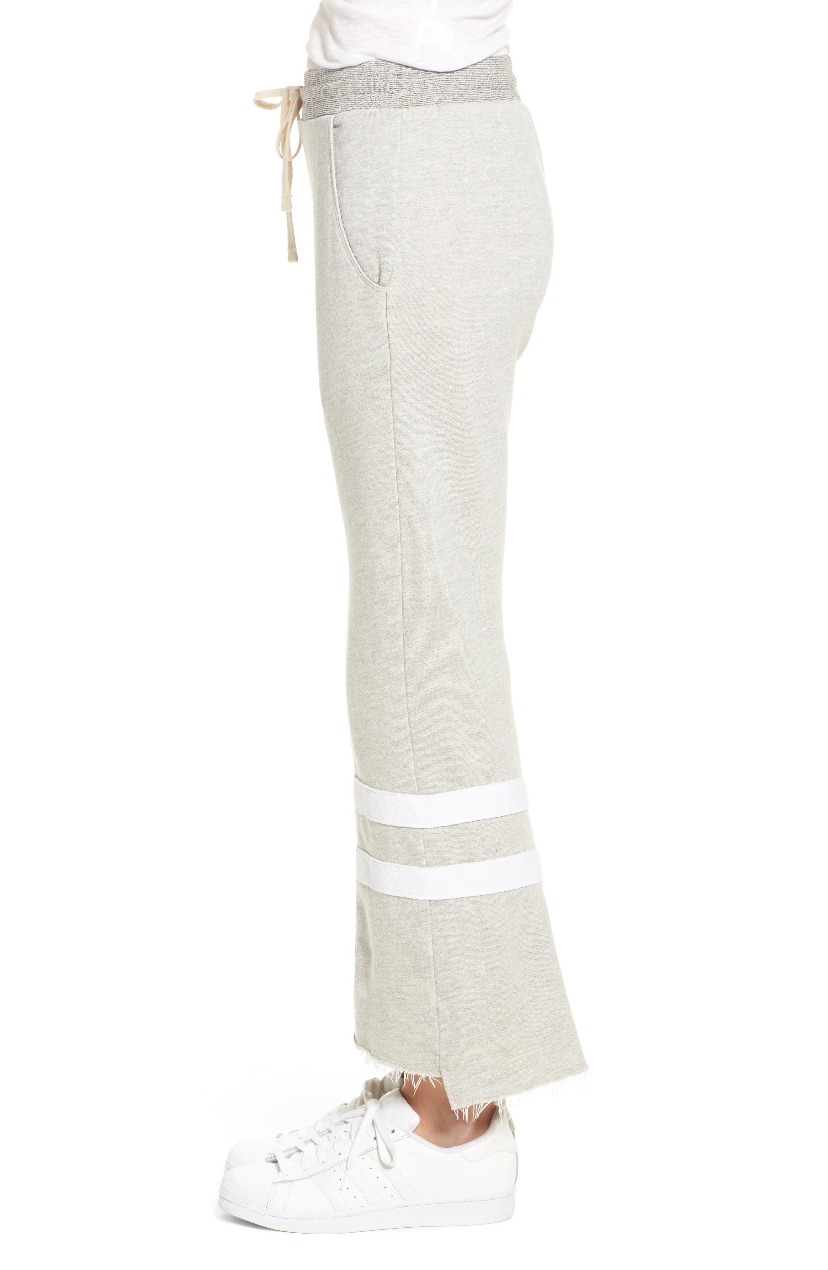Stripe Flare Sweatpants,                             Alternate thumbnail 3, color,                             039