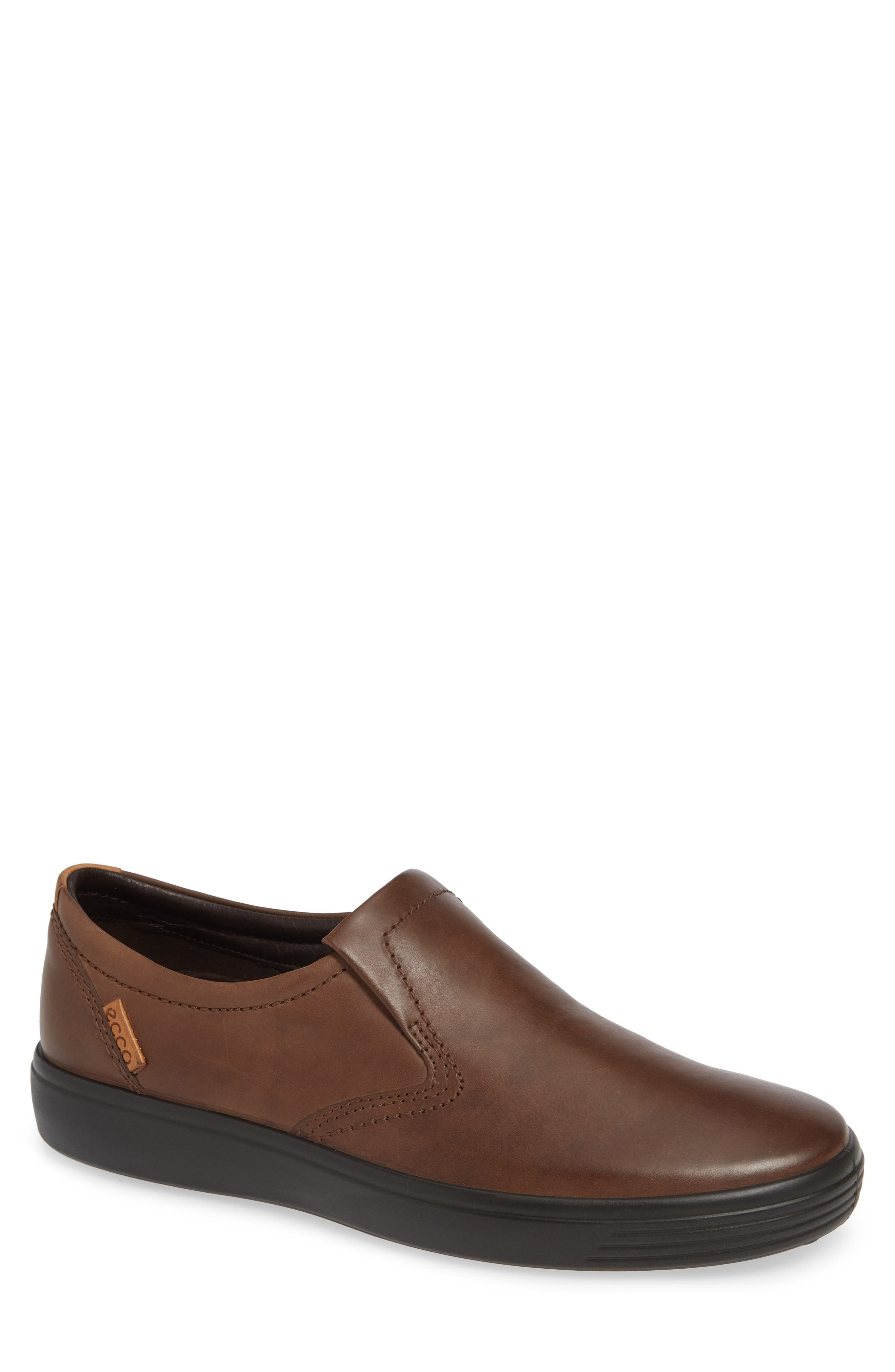 'Soft 7' Slip-On,                             Main thumbnail 1, color,                             BROWN LEATHER