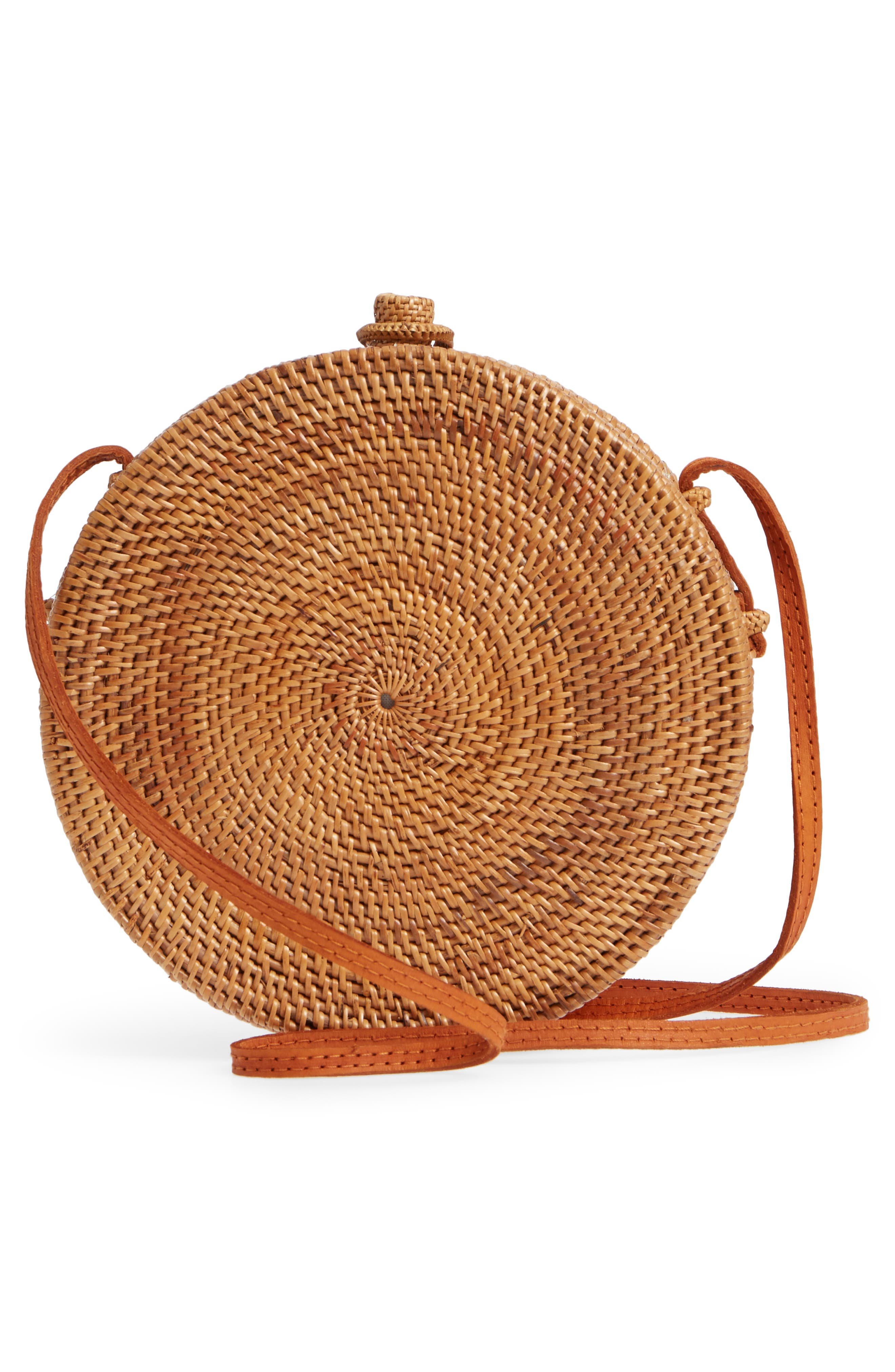 Round Rattan Crossbody Bag,                             Alternate thumbnail 3, color,                             230