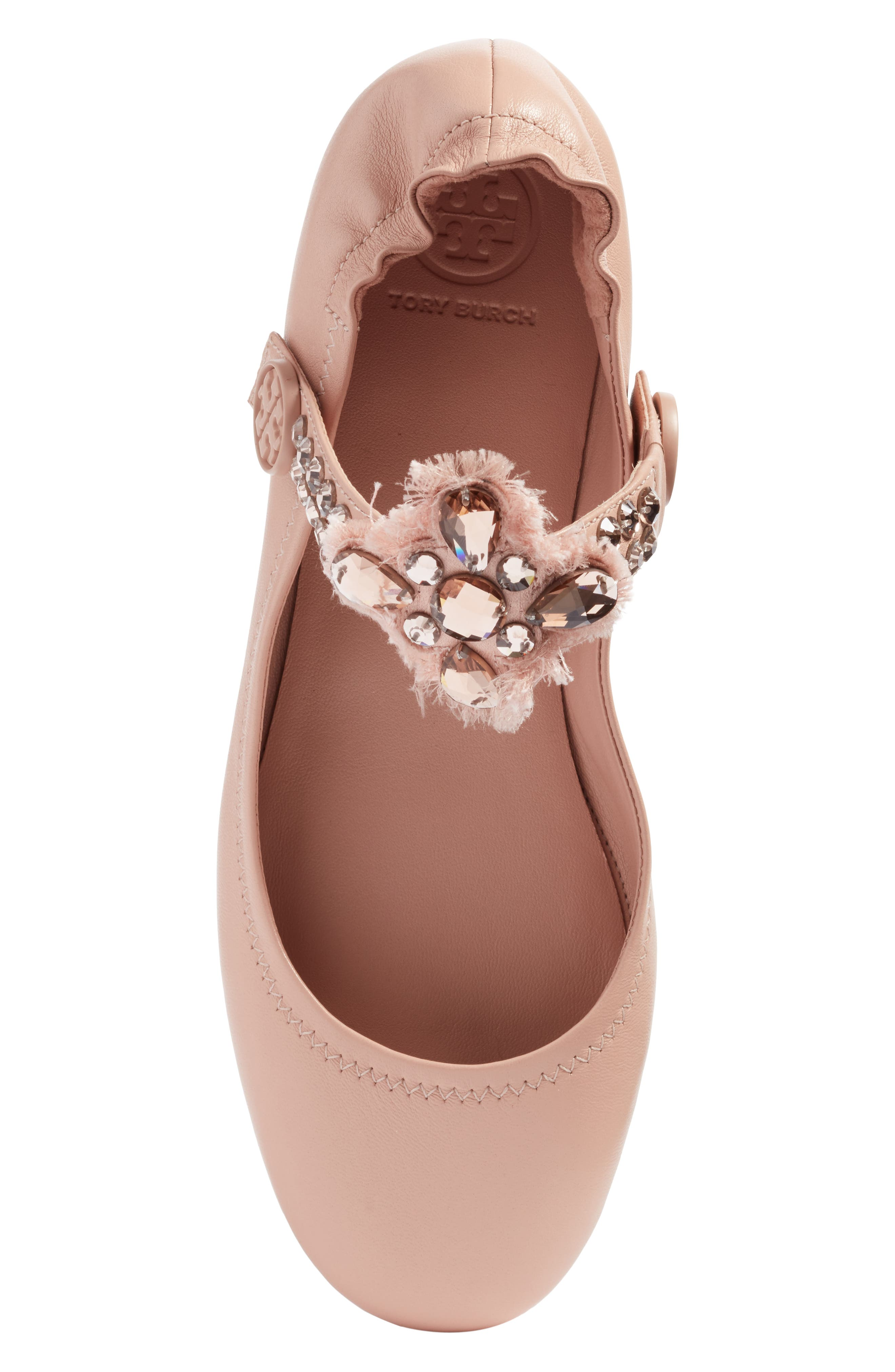 Minnie Embellished Convertible Strap Ballet Flat,                             Alternate thumbnail 18, color,
