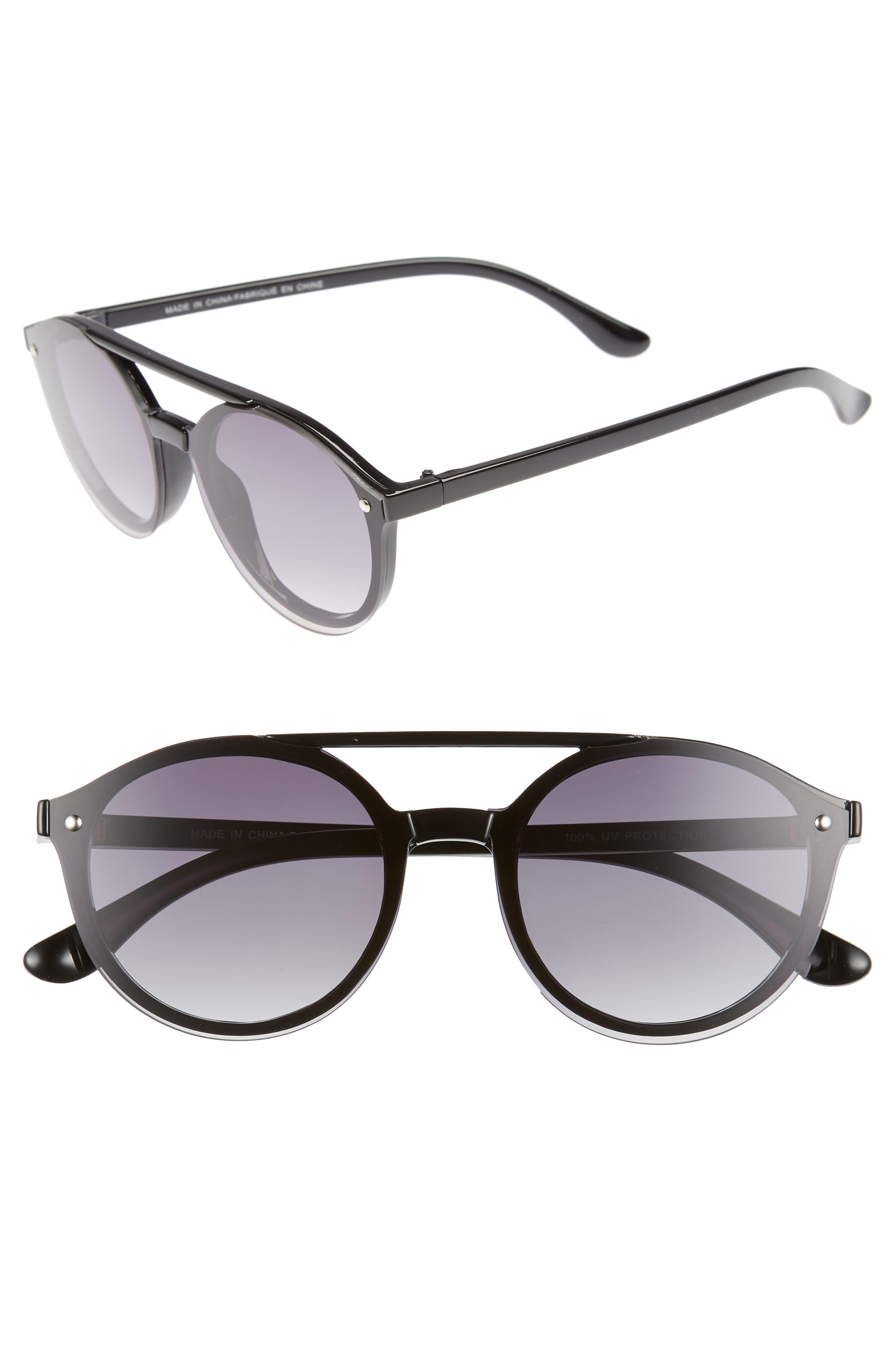49mm Small Aviator Sunglasses,                             Main thumbnail 1, color,                             001