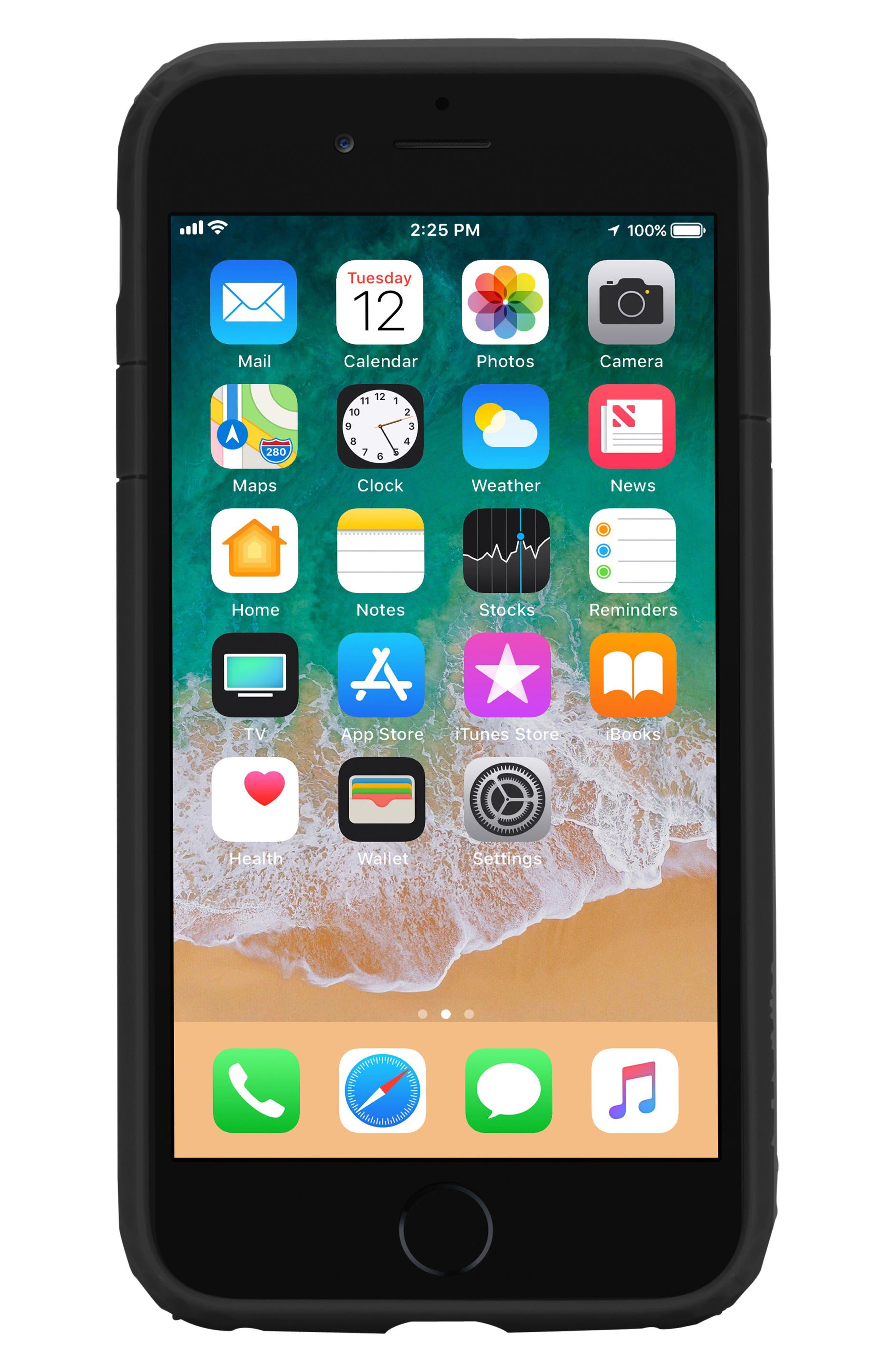 Frame iPhone 7/8 Case,                             Alternate thumbnail 3, color,                             BLACK