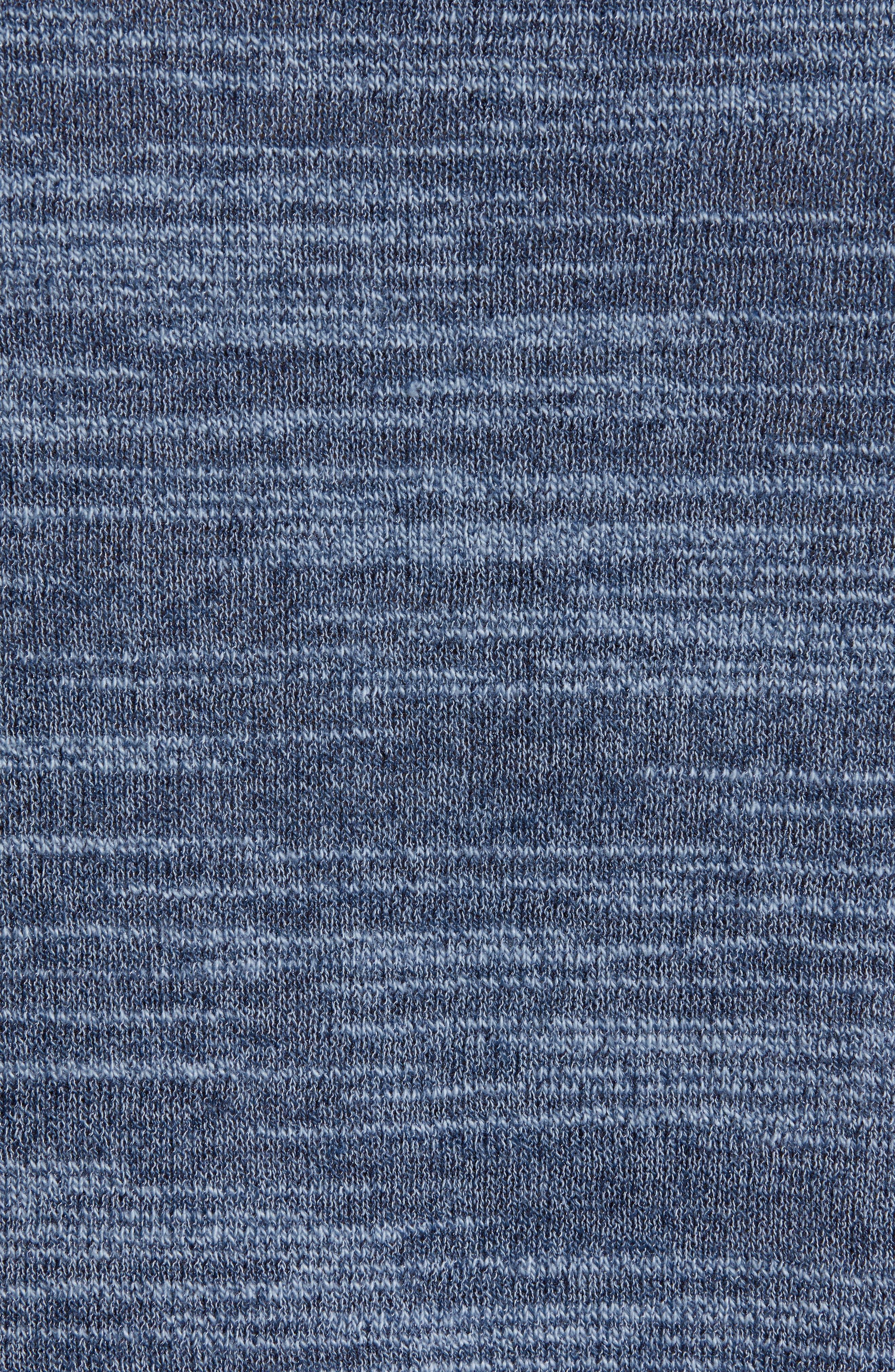 Vincent Plated Regular Fit Crewneck Sweater,                             Alternate thumbnail 5, color,                             STREAM BLUE