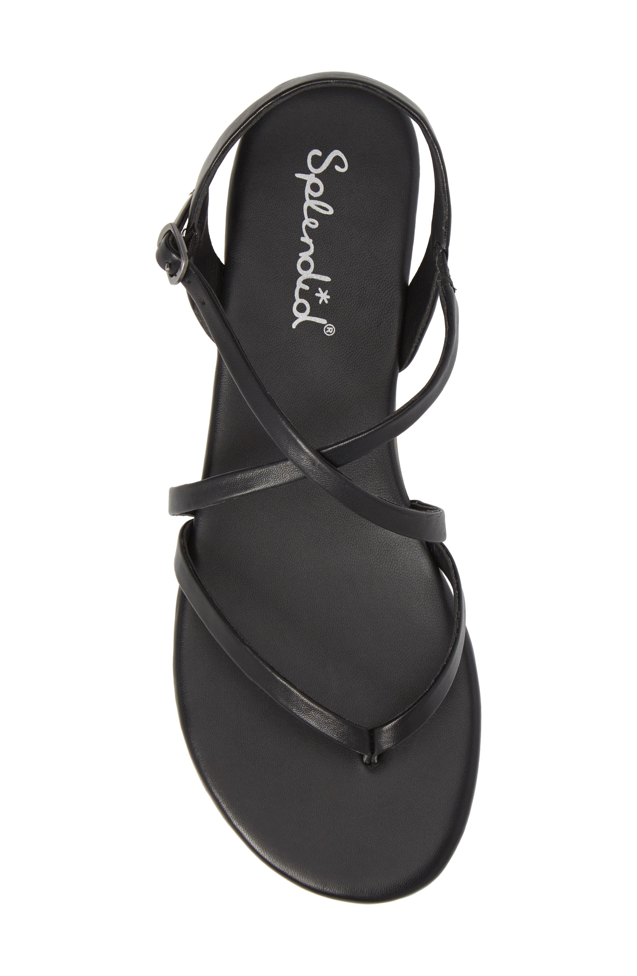 Brett Strappy Flat Sandal,                             Alternate thumbnail 5, color,                             002