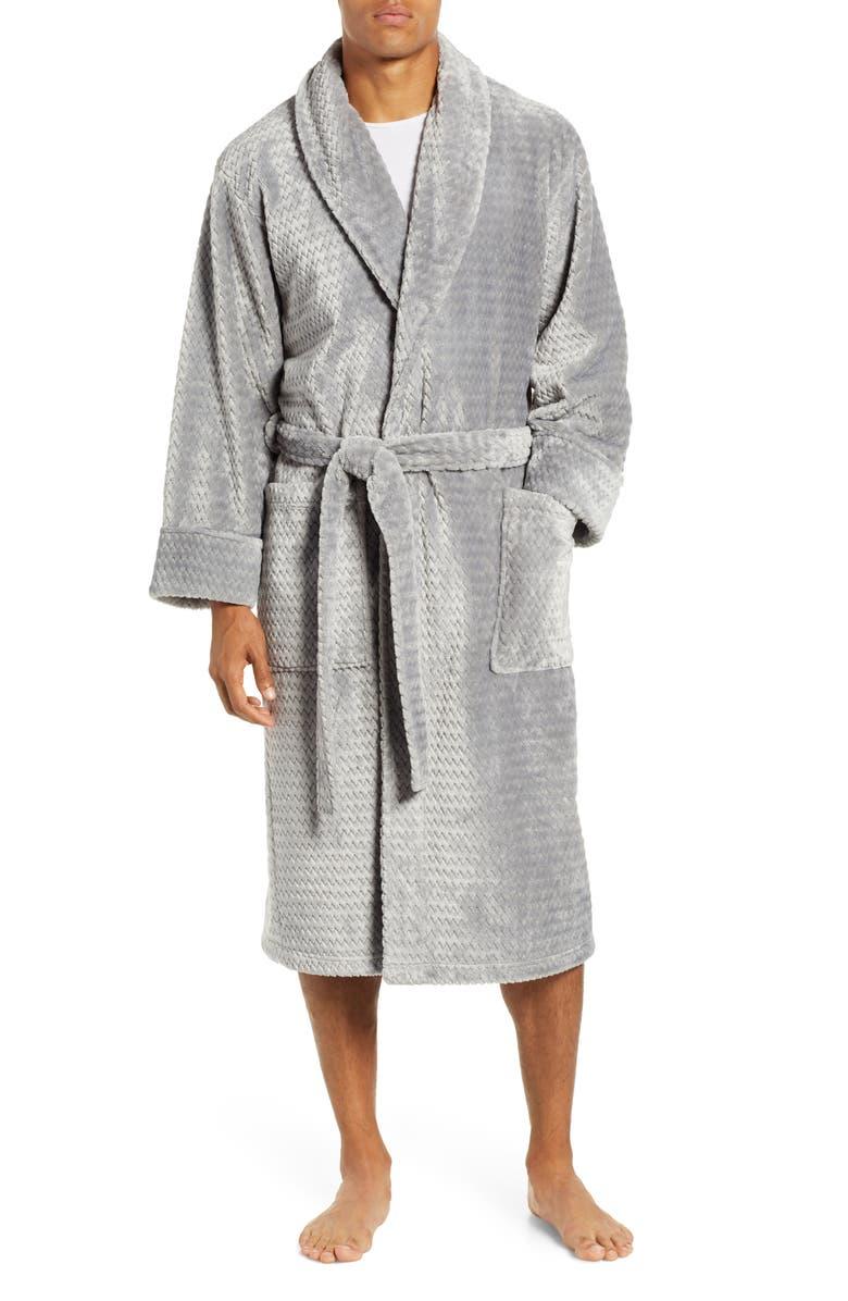 Daniel Buchler Herringbone Jacquard Robe  a4896603e