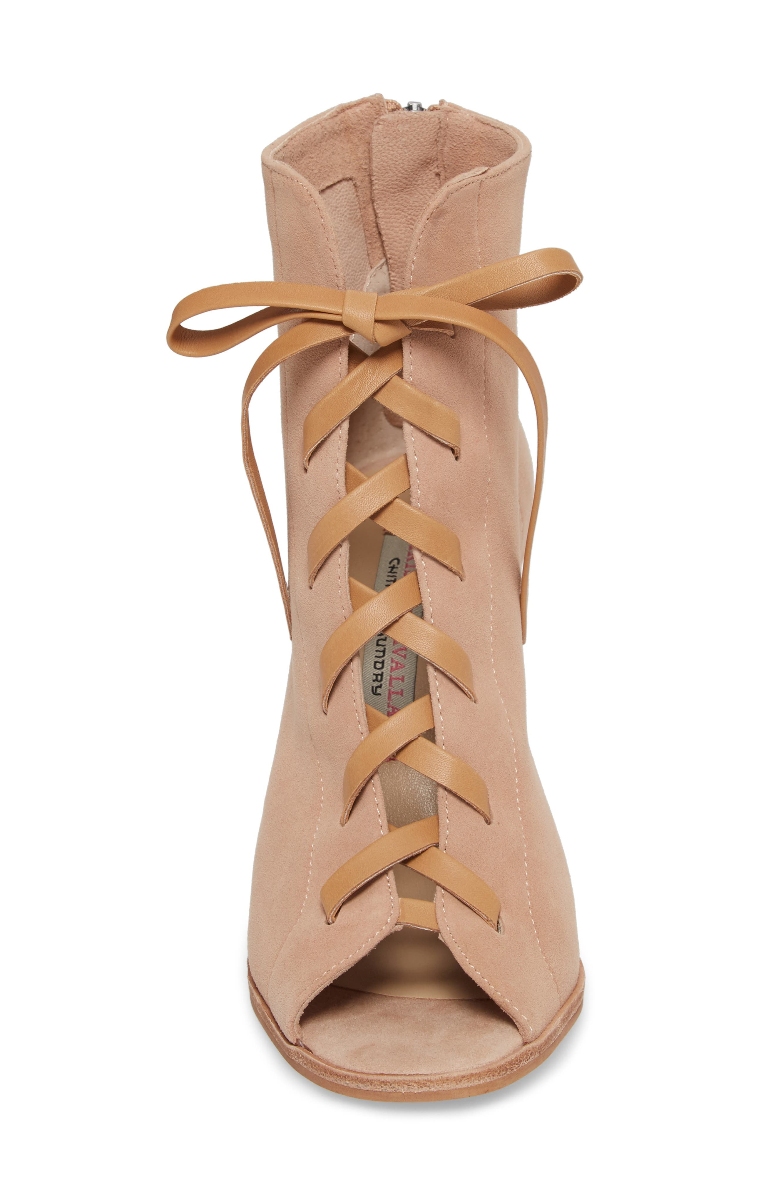 Layton Lace-Up Boot,                             Alternate thumbnail 4, color,                             TIGERS EYE SUEDE