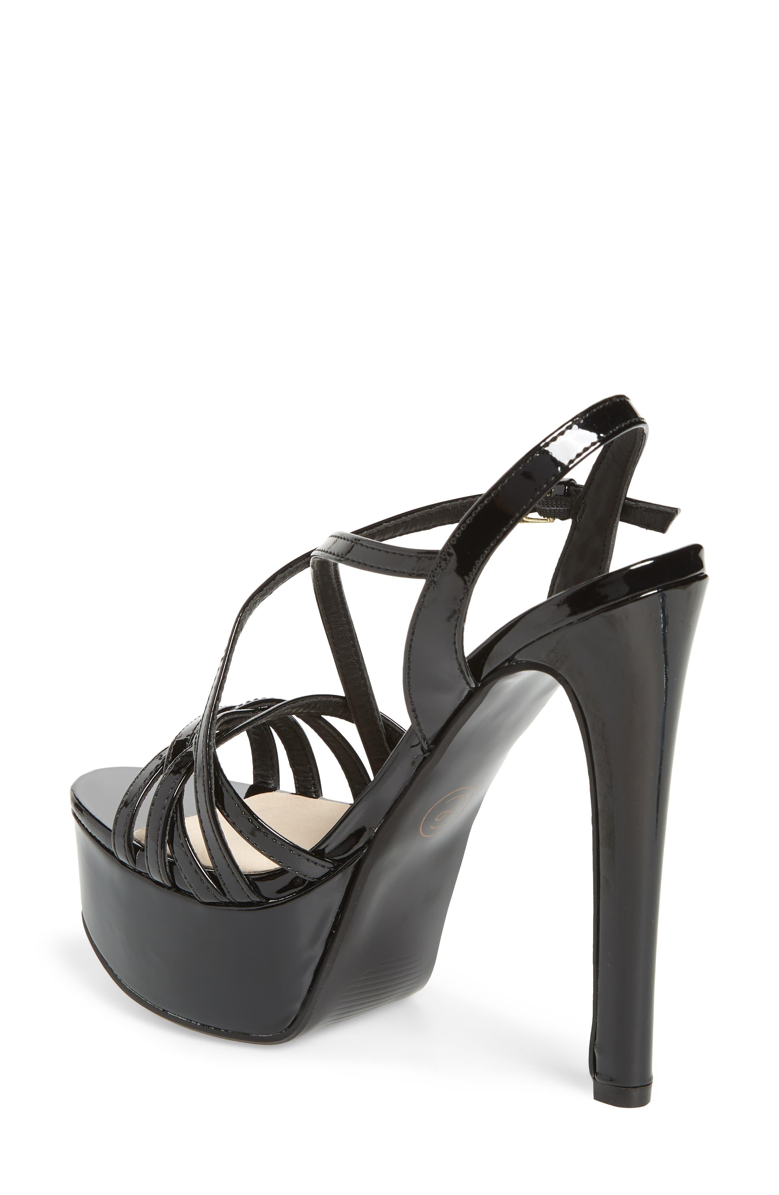Teaser2 Platform Sandal,                             Alternate thumbnail 2, color,                             BLACK PATENT