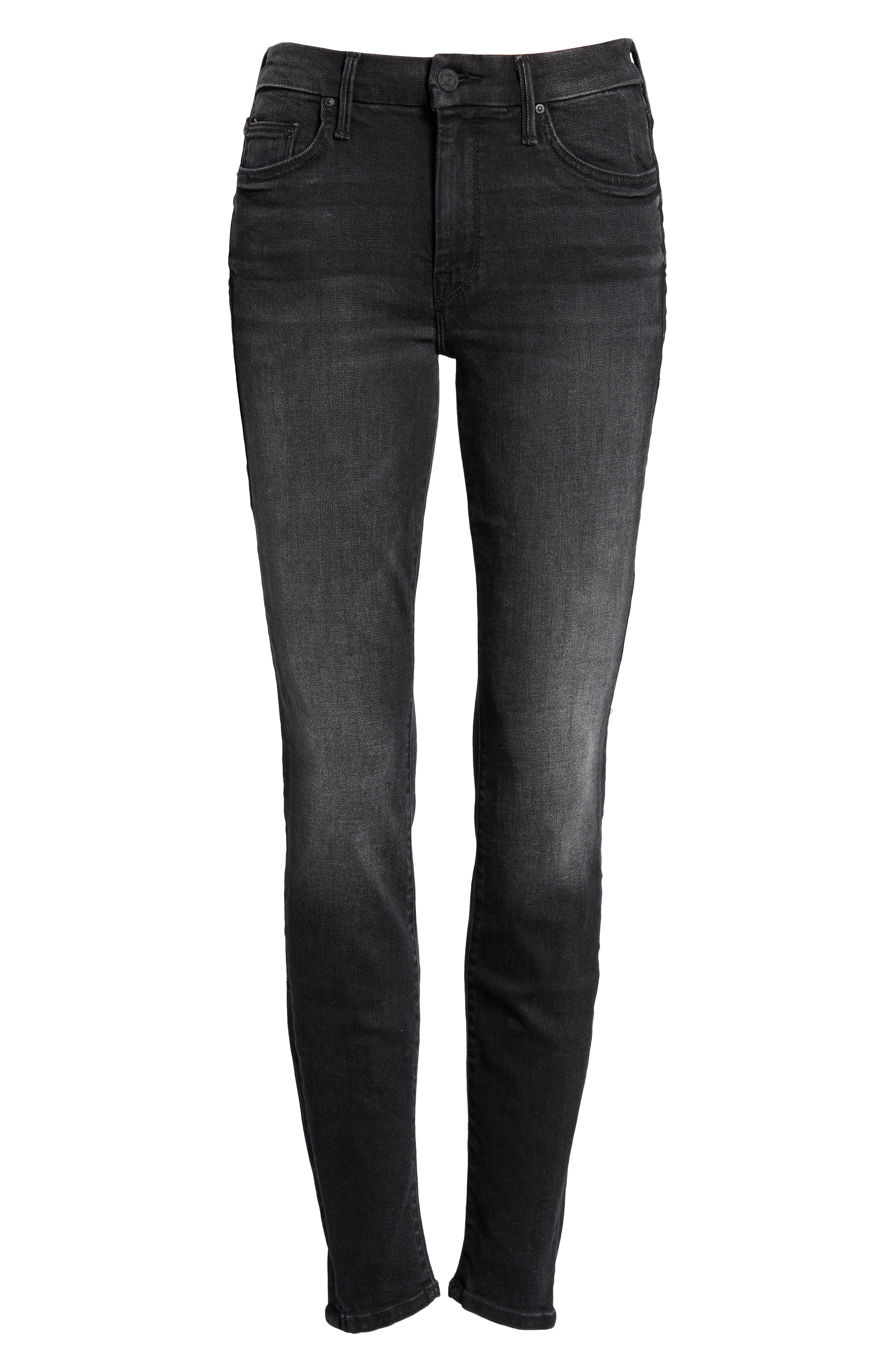 The Looker Mid Rise Skinny Jeans,                             Alternate thumbnail 7, color,                             NIGHT HAWK
