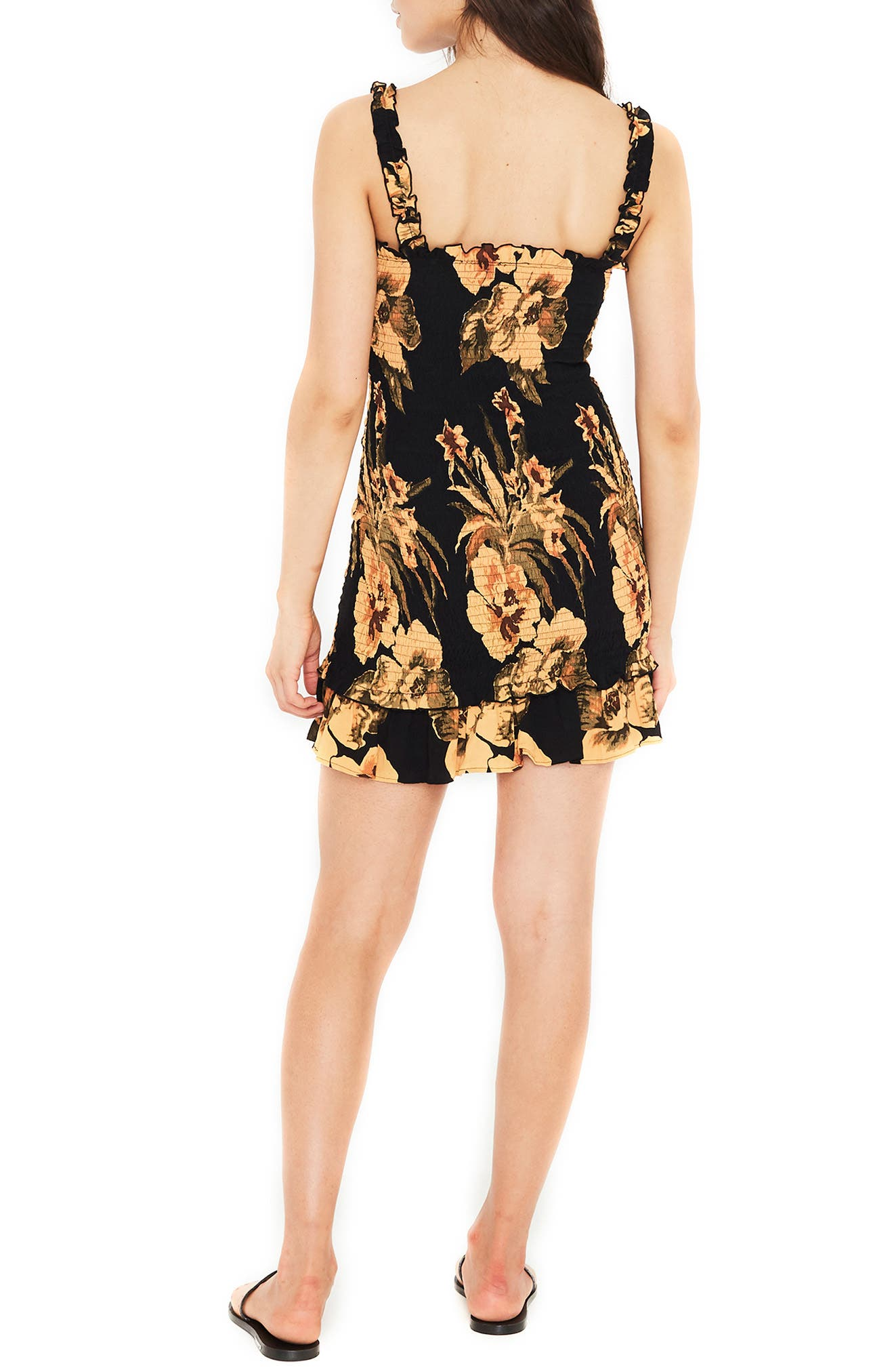 Del Mar Smocked Dress,                             Alternate thumbnail 2, color,                             CARIBBEAN PRINT