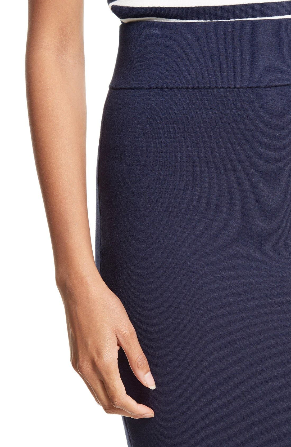 Stretch Knit Pencil Skirt,                             Alternate thumbnail 8, color,                             410