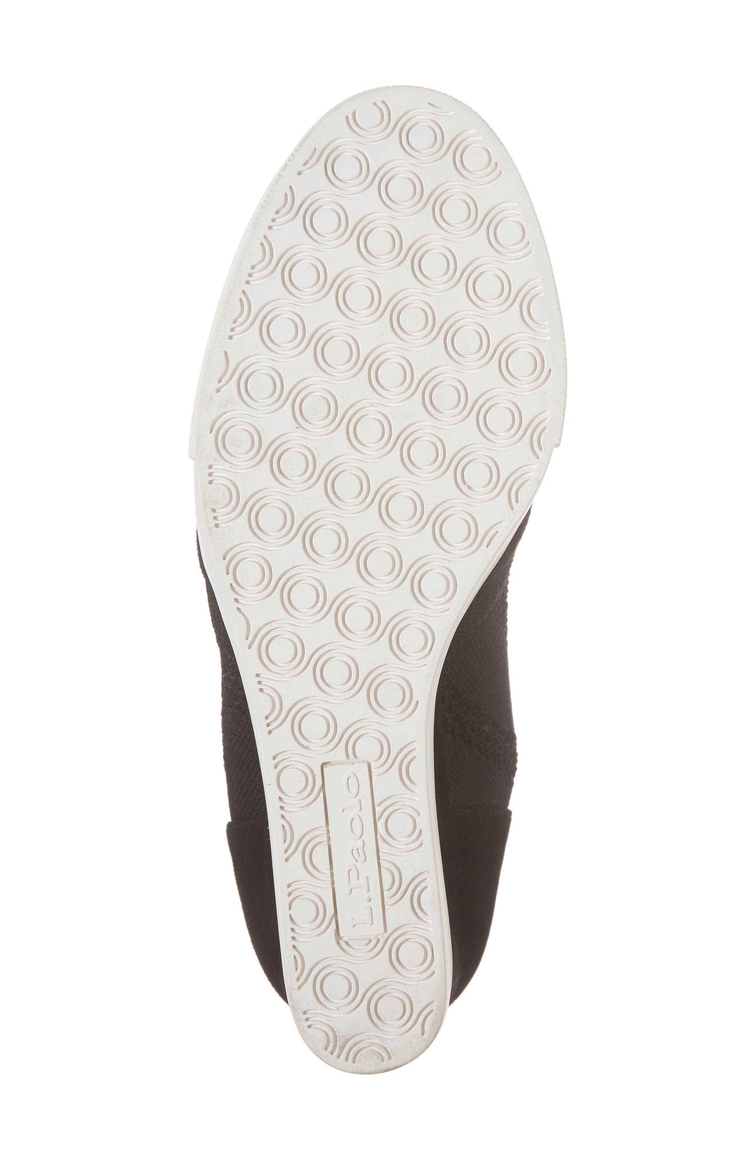 Fabiana Wedge Sneaker,                             Alternate thumbnail 6, color,                             BLACK SUEDE