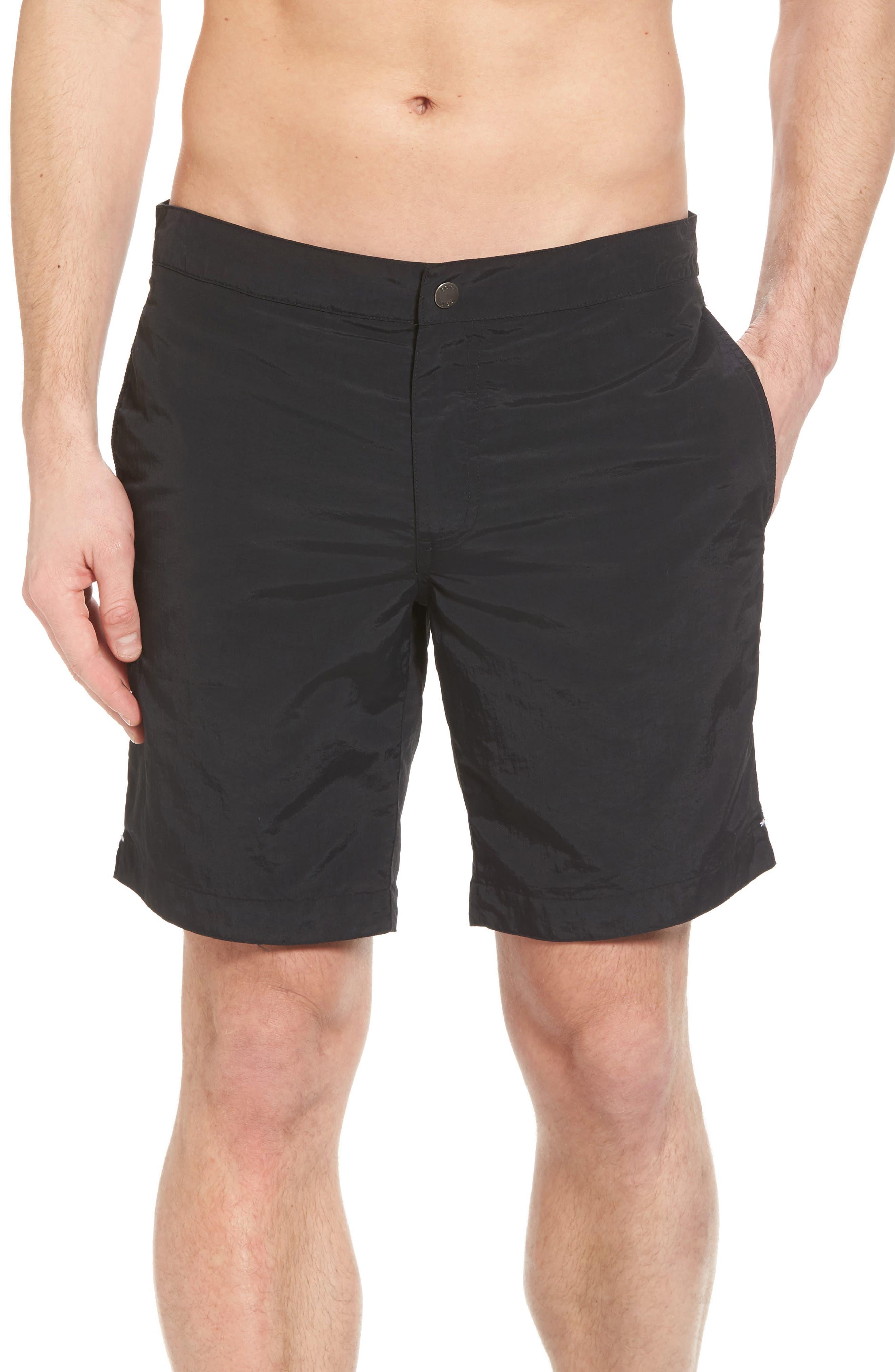 'Aruba - Island' Tailored Fit 8.5 Inch Board Shorts,                             Main thumbnail 1, color,                             001