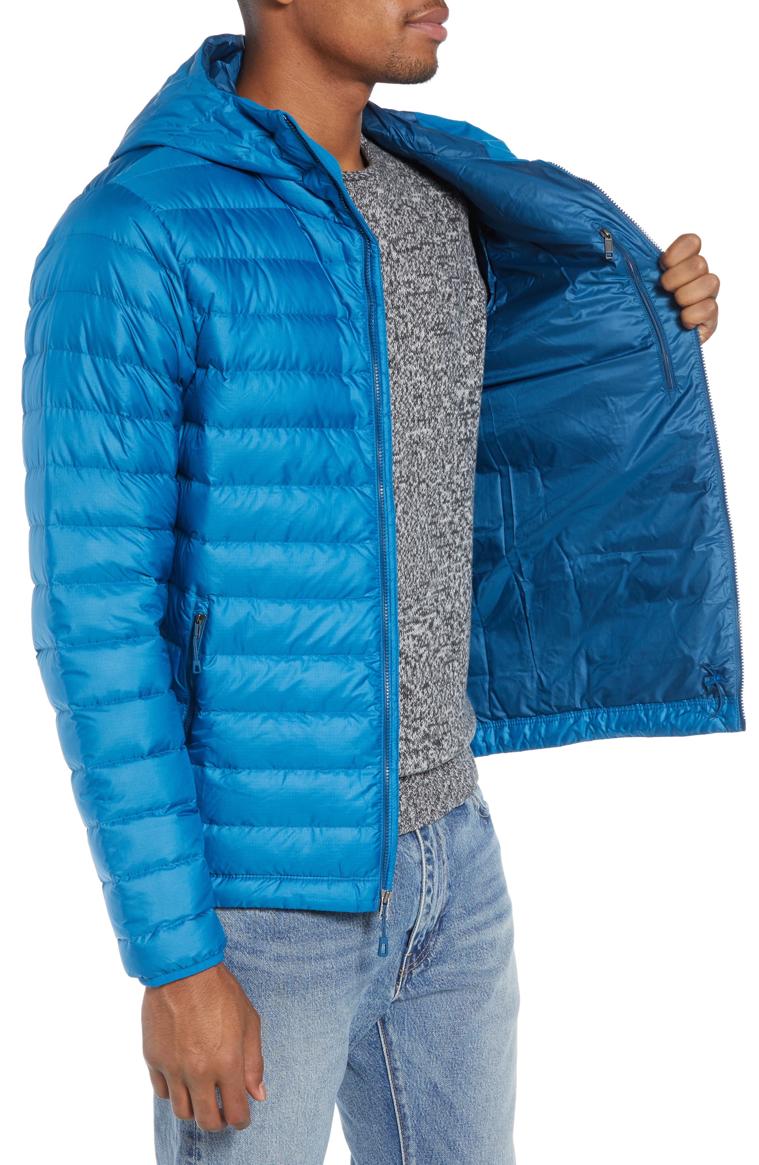 Packable Windproof & Water Resistant Goose Down Sweater Hooded Jacket,                             Alternate thumbnail 18, color,
