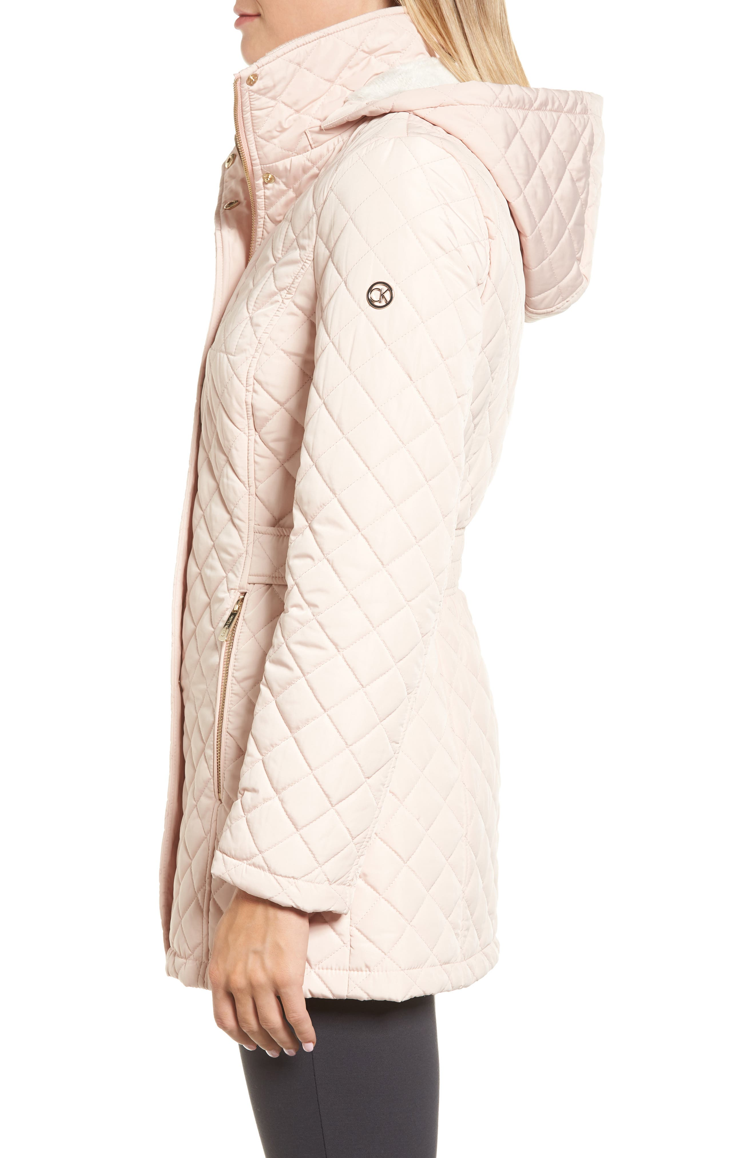 Hooded Quilted Jacket,                             Alternate thumbnail 17, color,