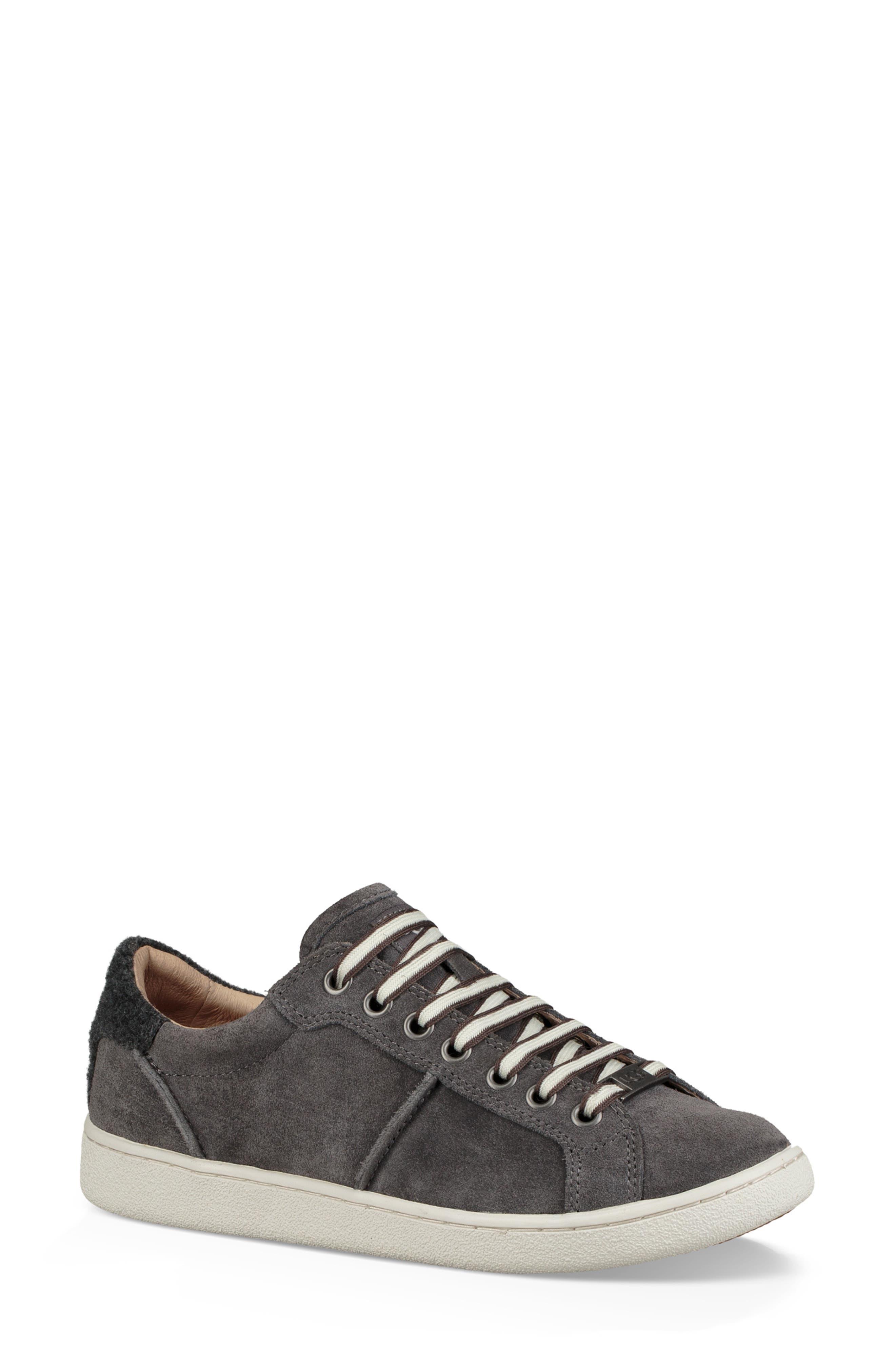Milo Sneaker,                         Main,                         color, CHARCOAL SUEDE