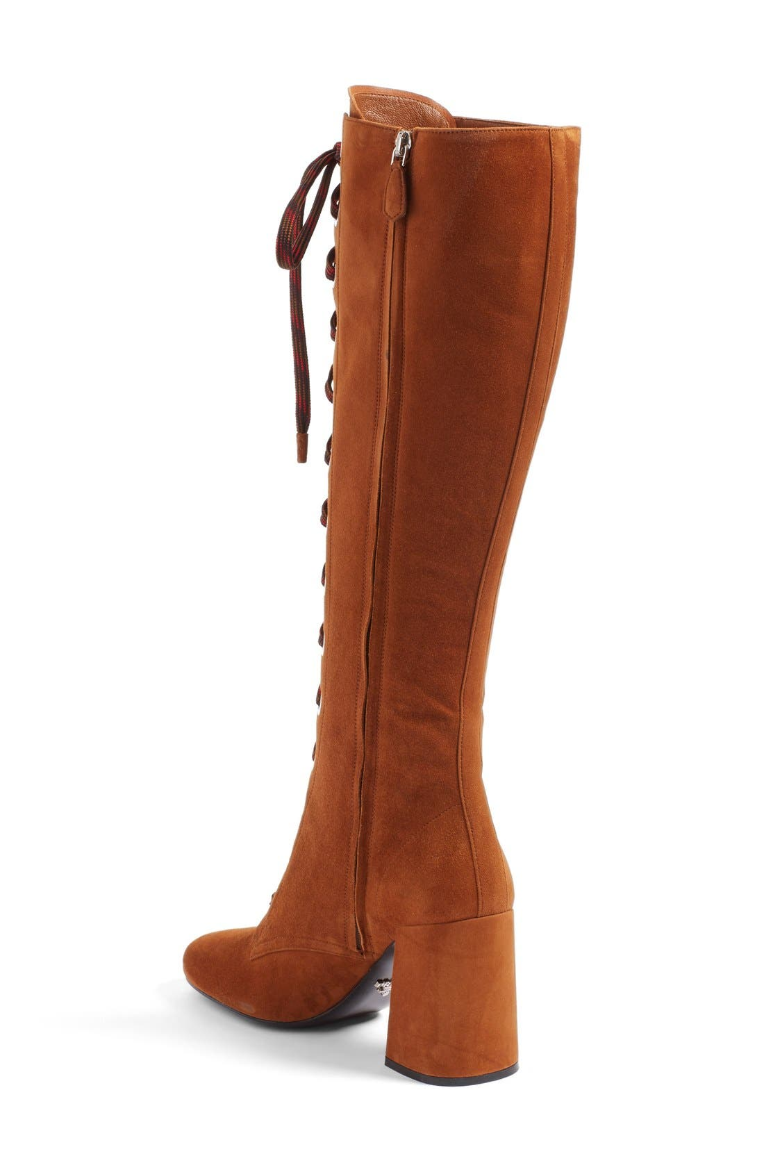 Lace-Up Knee High Boot,                             Alternate thumbnail 2, color,                             200