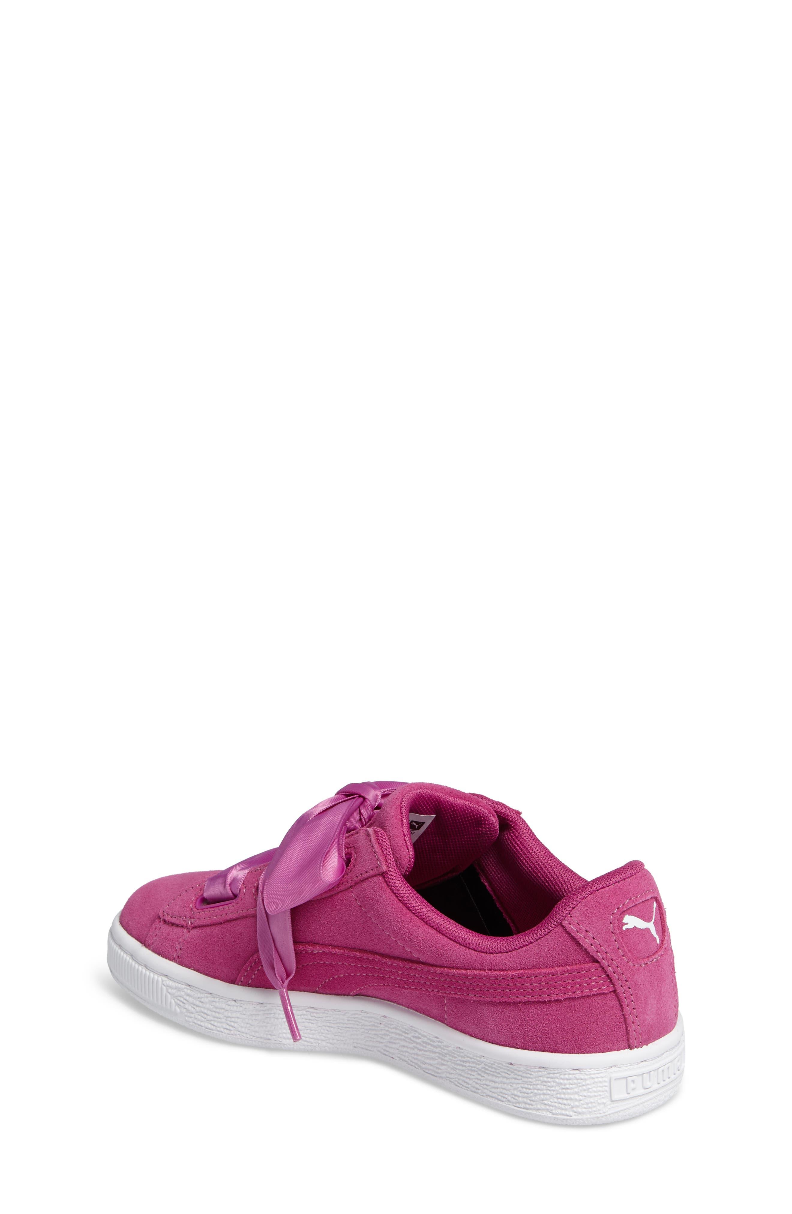 Suede Heart Sneaker,                             Alternate thumbnail 2, color,                             690