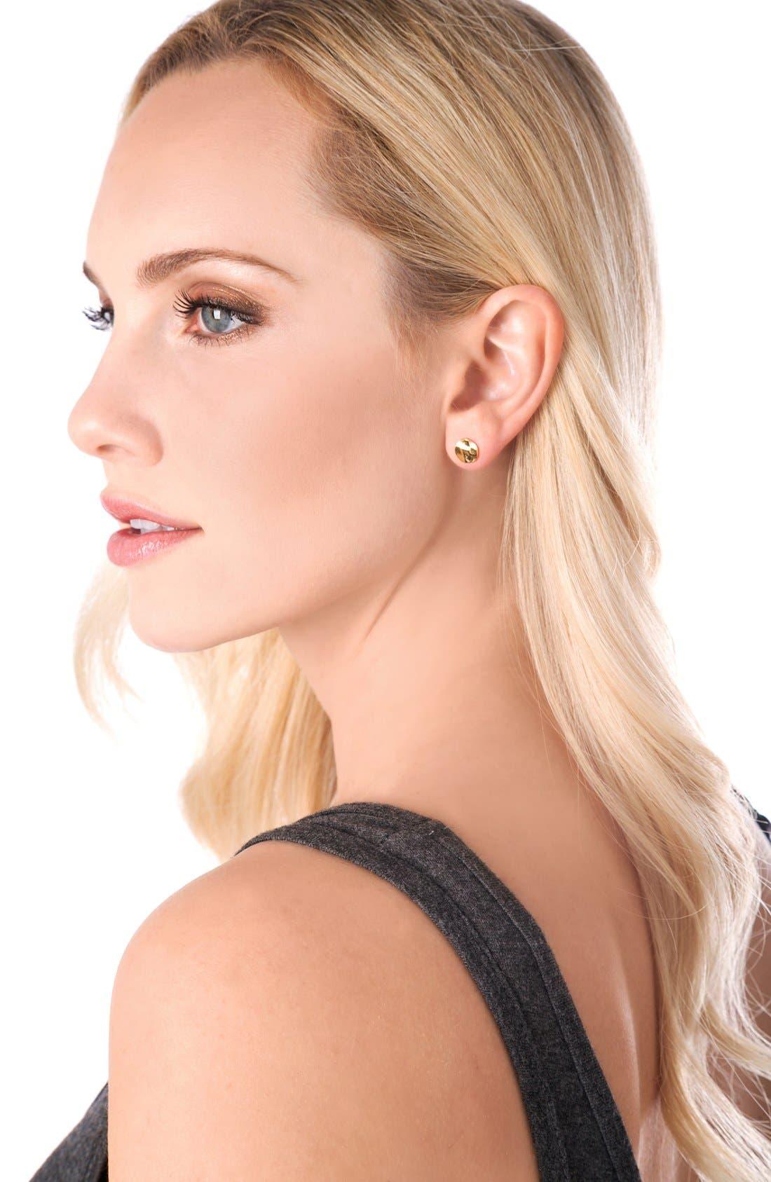 'Chloe' Small Stud Earrings,                             Alternate thumbnail 4, color,                             GOLD