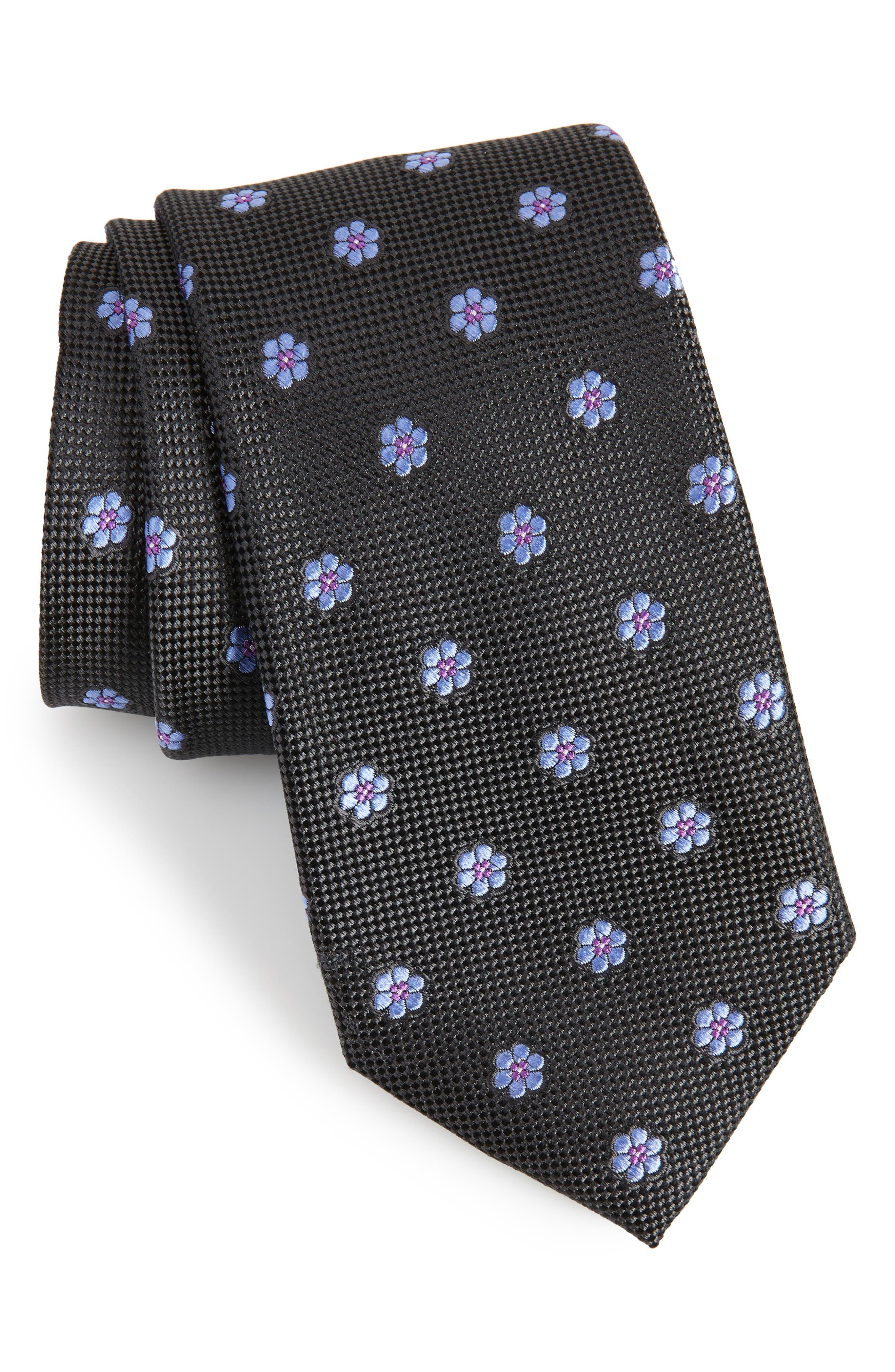 Calibrate Cloisters Neat Silk Tie,                             Main thumbnail 1, color,