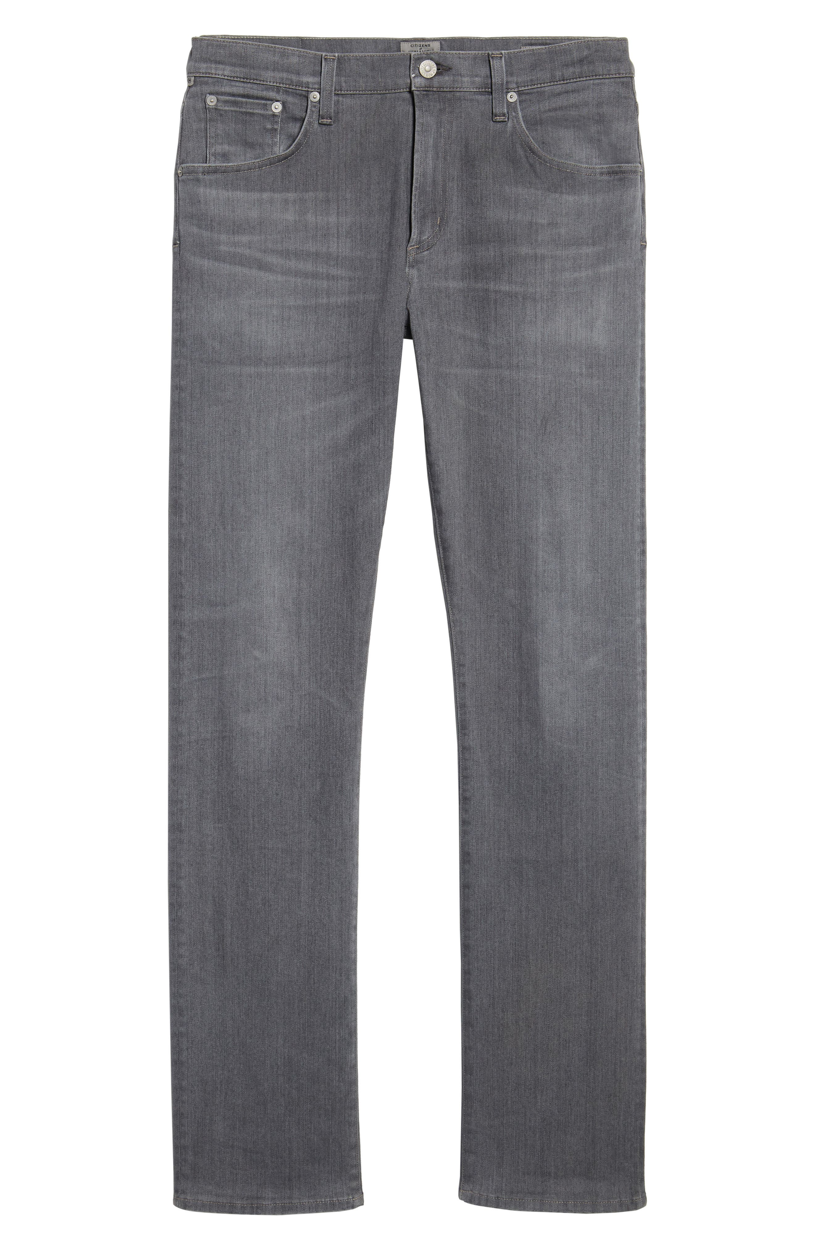 PERFORM - Gage Slim Straight Fit Jeans,                             Alternate thumbnail 6, color,                             034