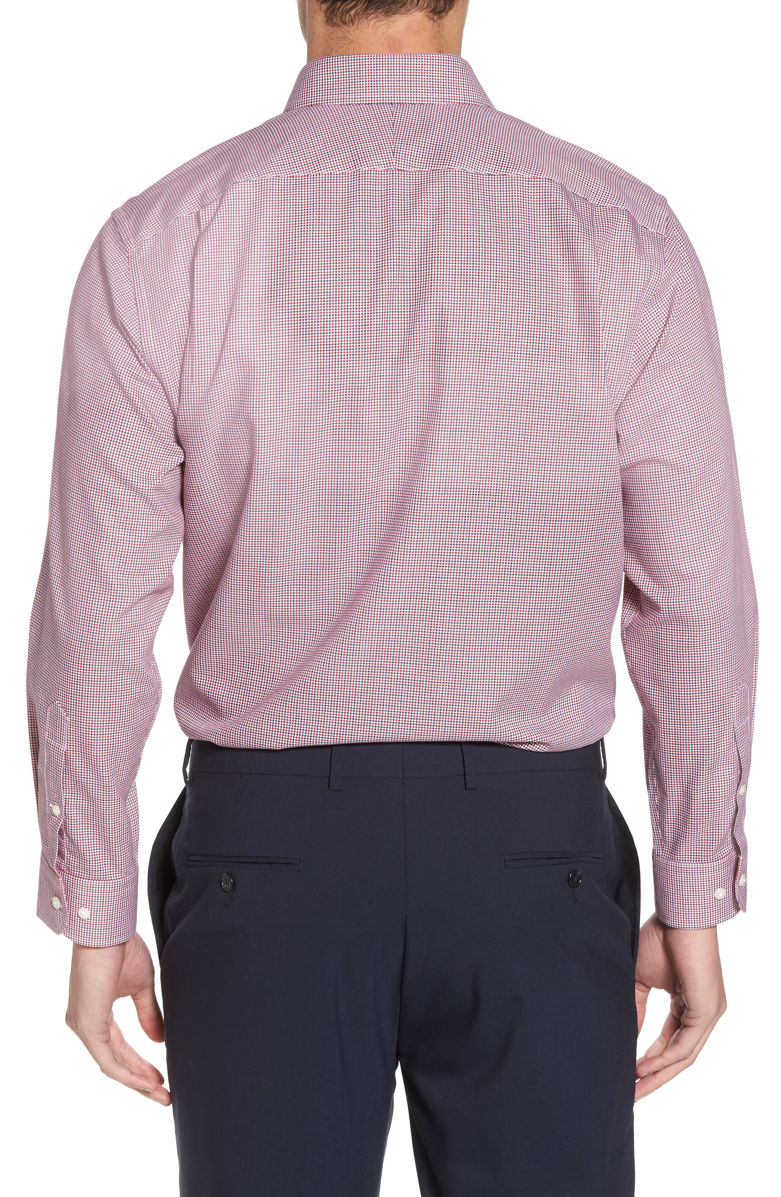 Smartcare<sup>™</sup> Traditional Fit Houndstooth Dress Shirt,                             Alternate thumbnail 6, color,