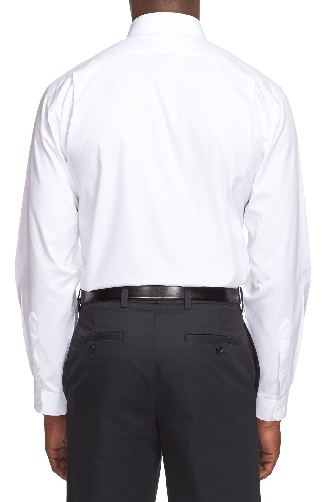 Smartcare<sup>™</sup> Traditional Fit Dress Shirt,                             Alternate thumbnail 5, color,                             WHITE