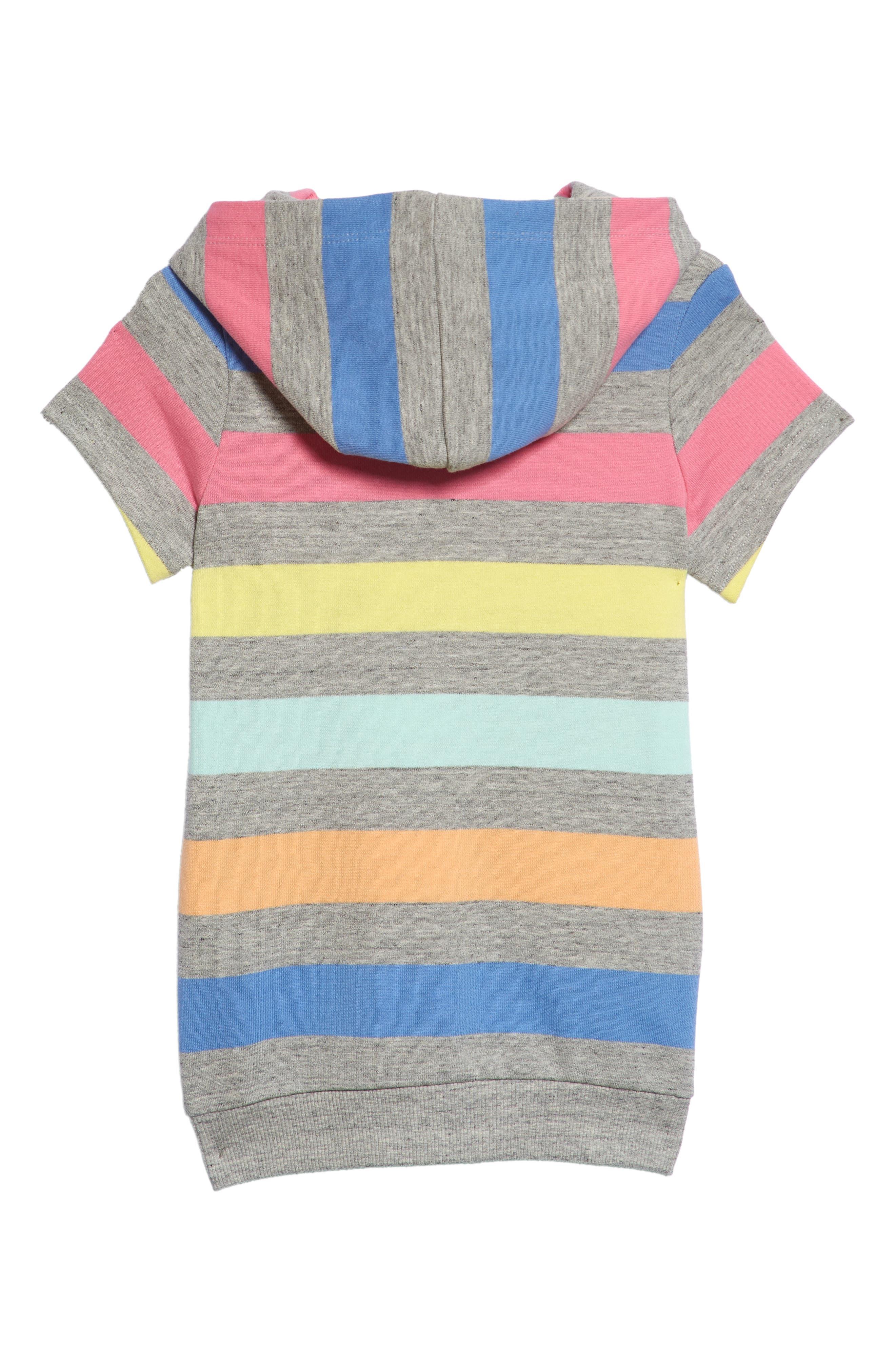 Mini Me Stripe Hooded Sweatshirt Dress,                             Alternate thumbnail 2, color,                             060