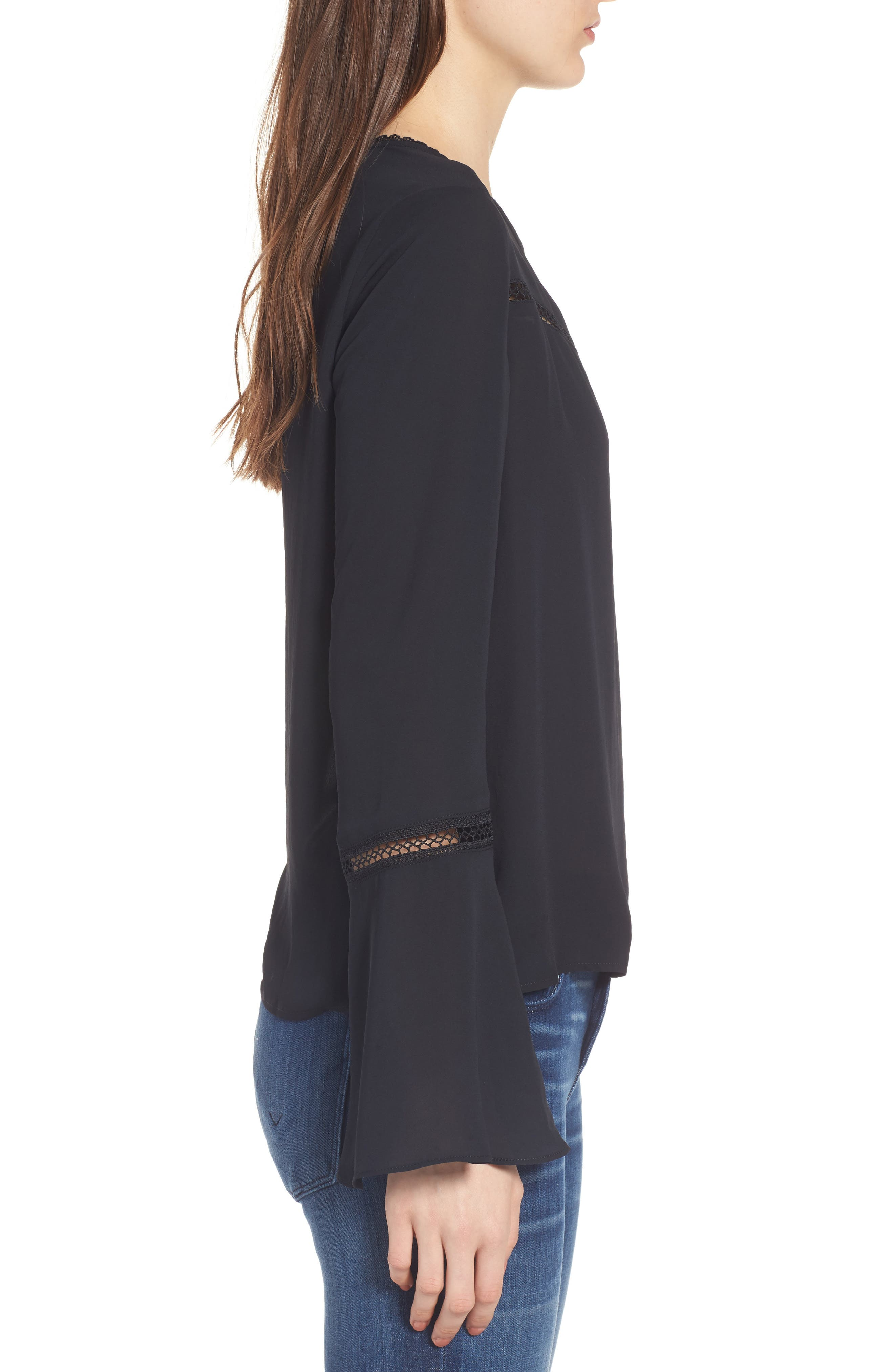 Chava Bell Sleeve Top,                             Alternate thumbnail 3, color,                             001
