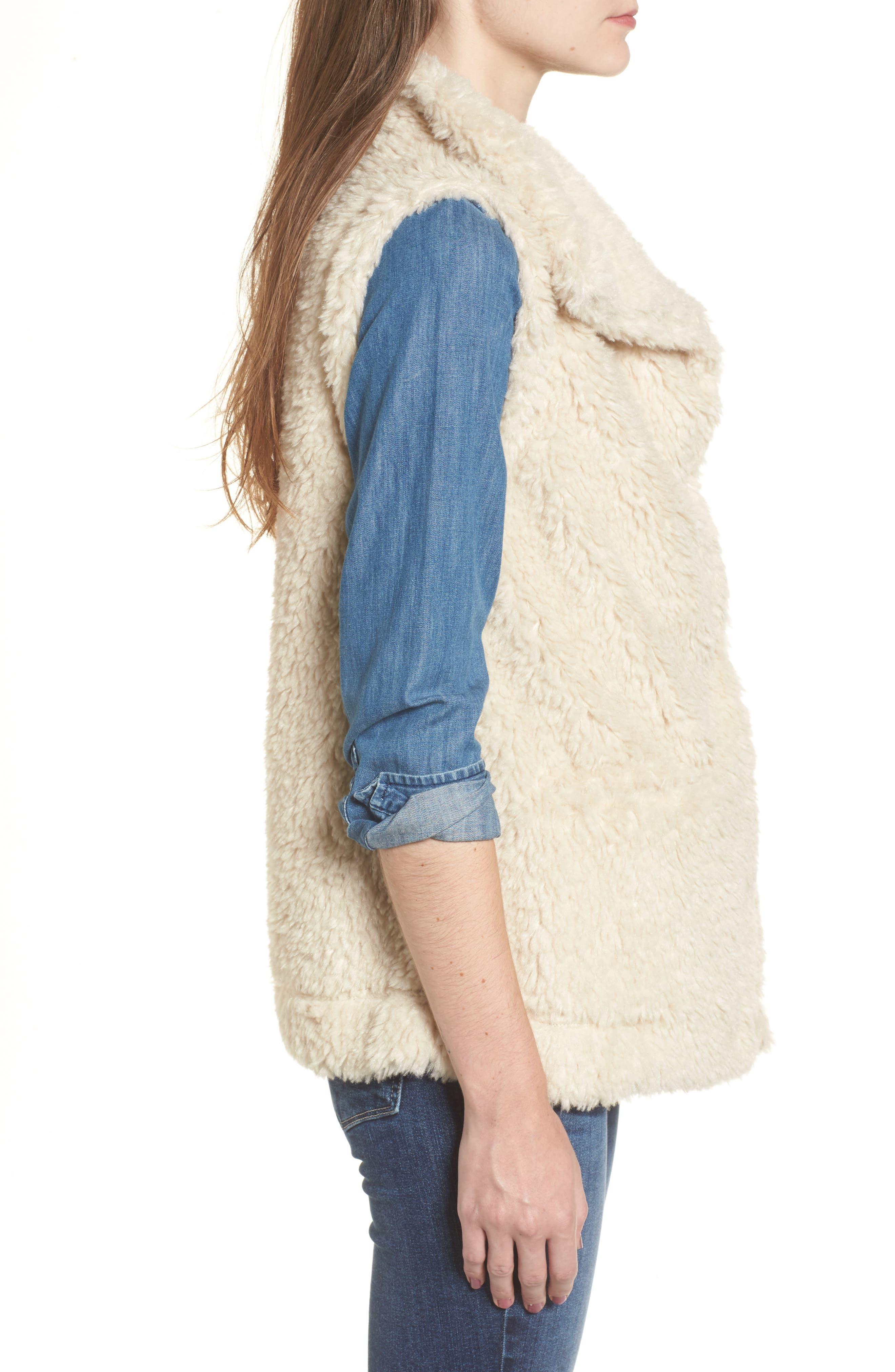Cozy Faux Shearling Vest,                             Alternate thumbnail 3, color,
