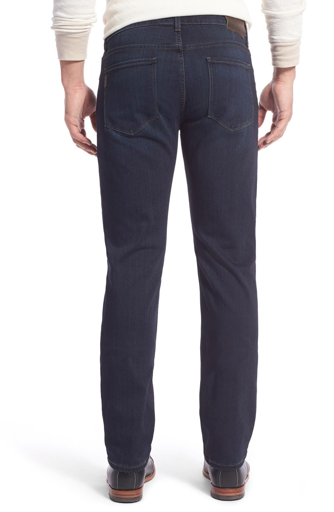 Transcend - Lennox Straight Leg Jeans,                             Alternate thumbnail 2, color,                             CELLAR