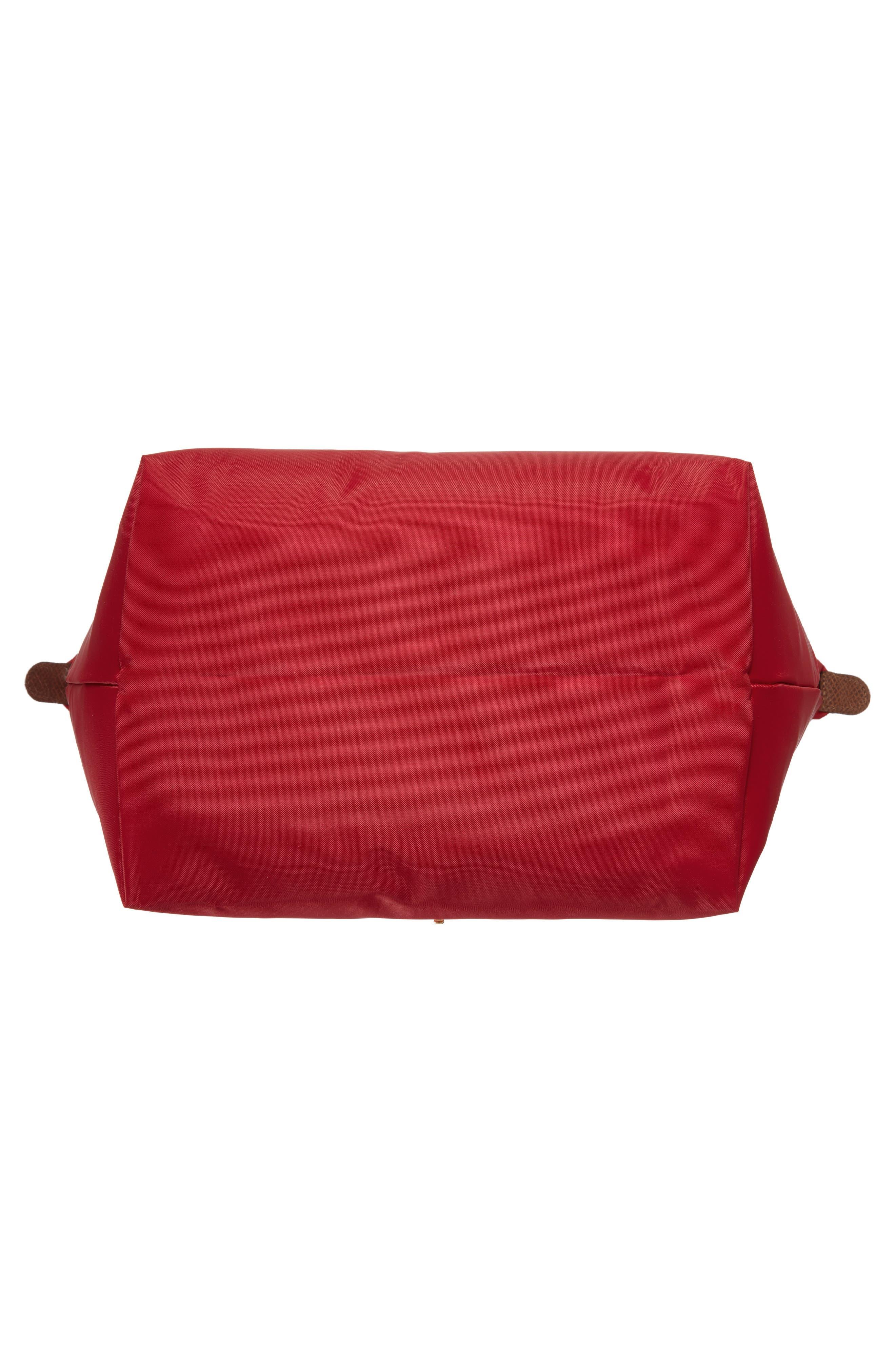 'Medium Le Pliage' Top Handle Tote,                             Alternate thumbnail 6, color,                             RED