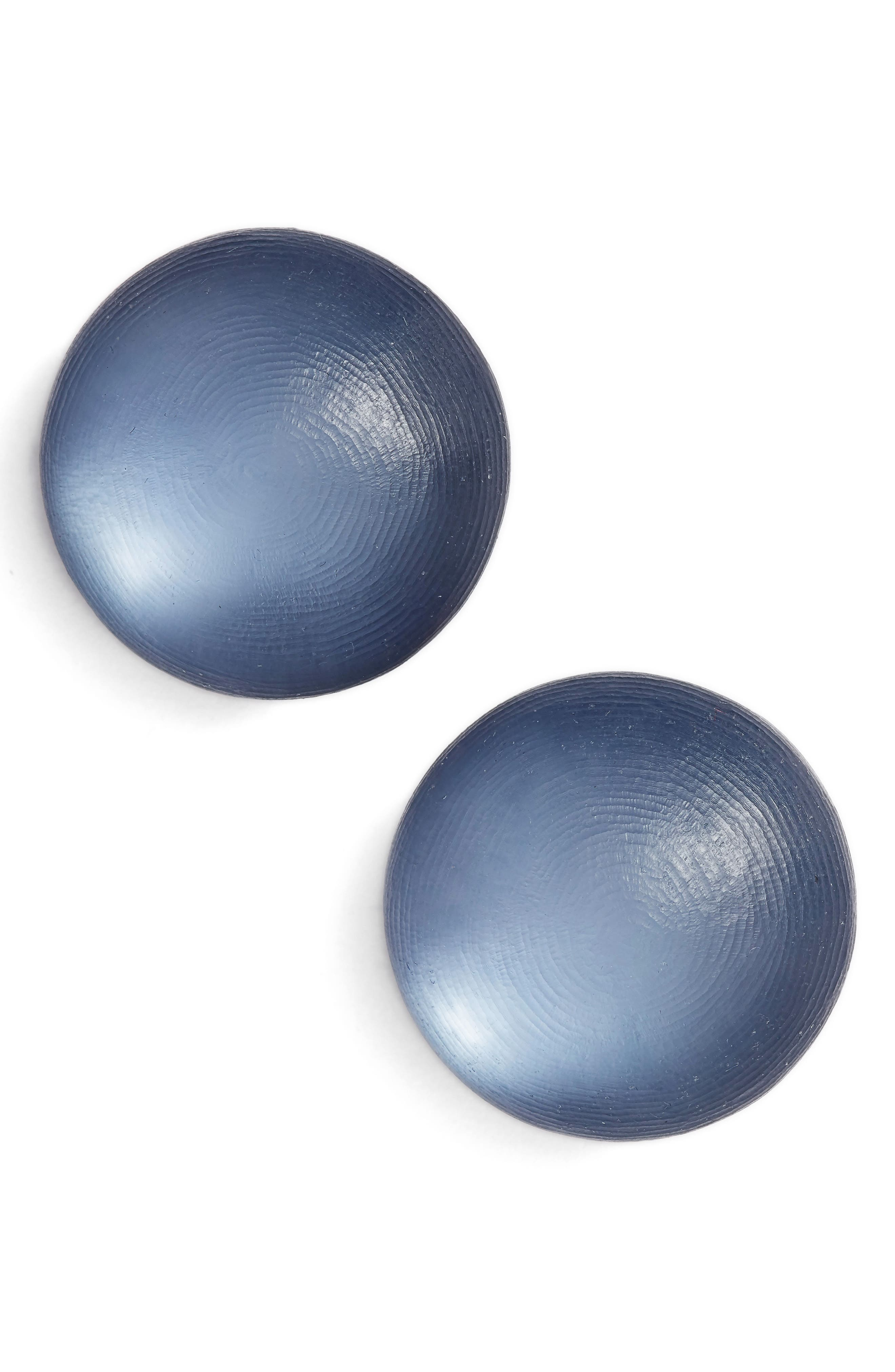 Lucite<sup>®</sup> Medium Dome Clip Earrings,                             Main thumbnail 1, color,                             SEA BLUE