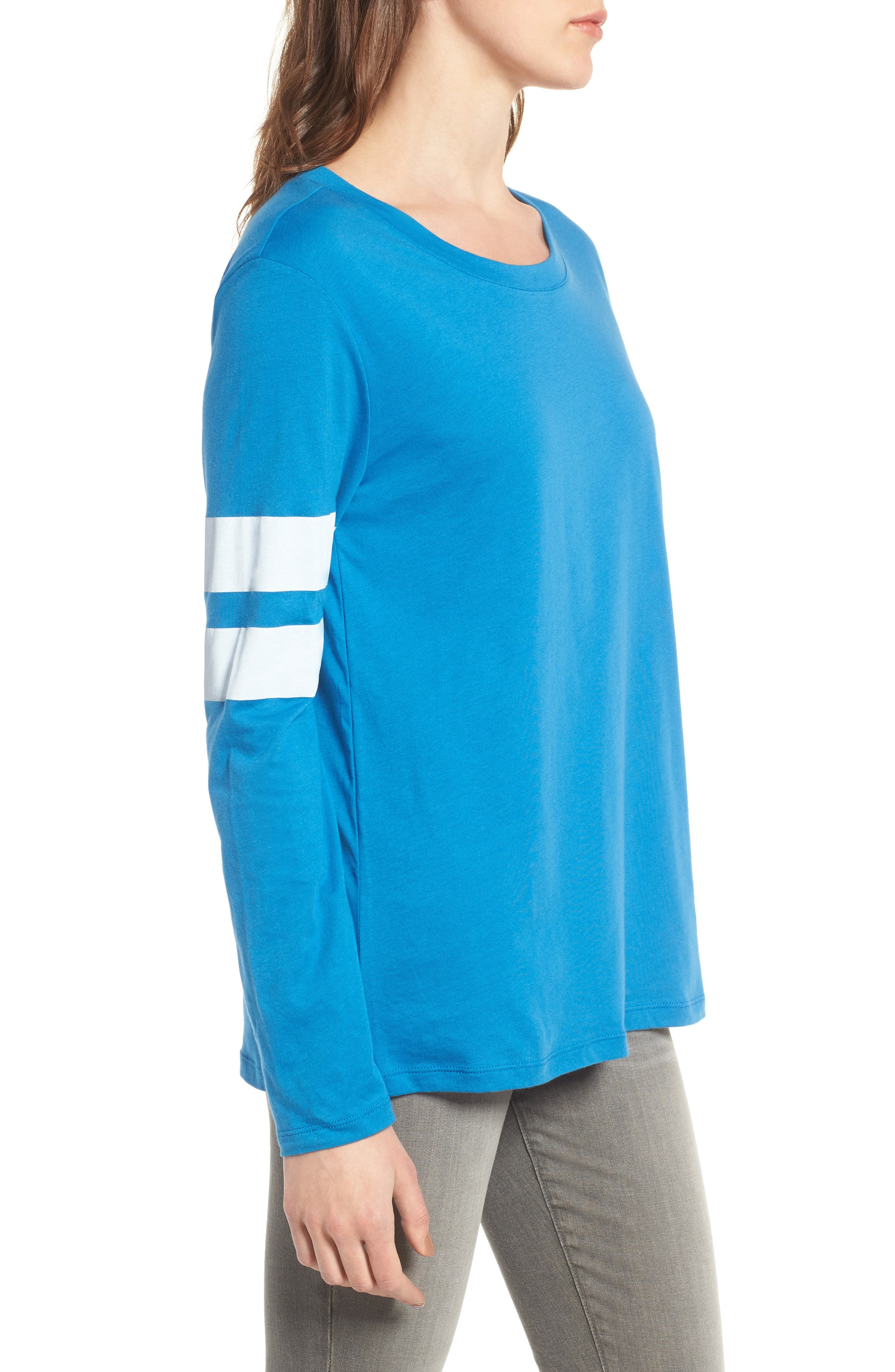 Varsity Stripe Cotton Tee,                             Alternate thumbnail 62, color,