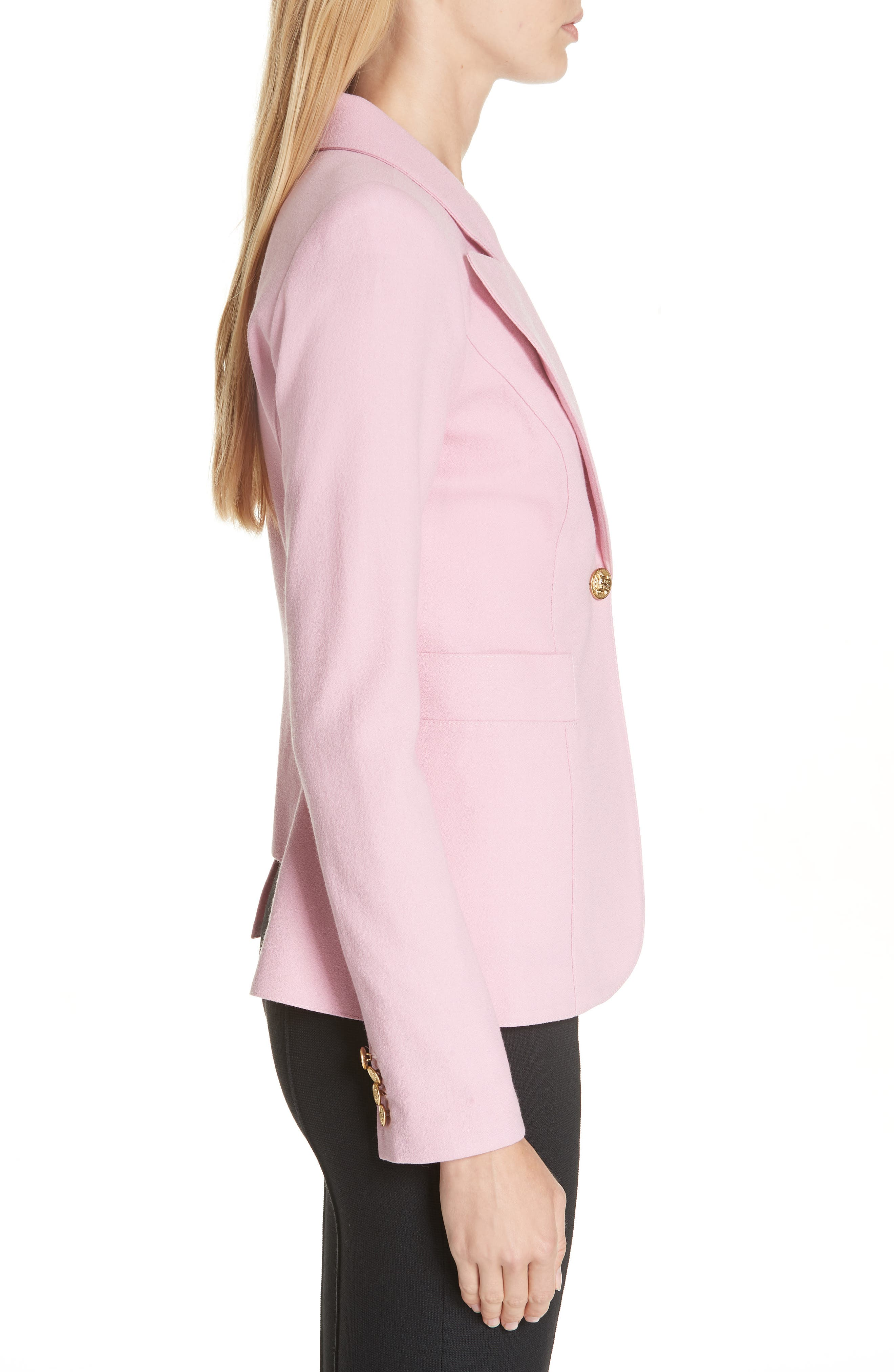 Classic Duchess Blazer,                             Alternate thumbnail 3, color,                             RETHINK PINK