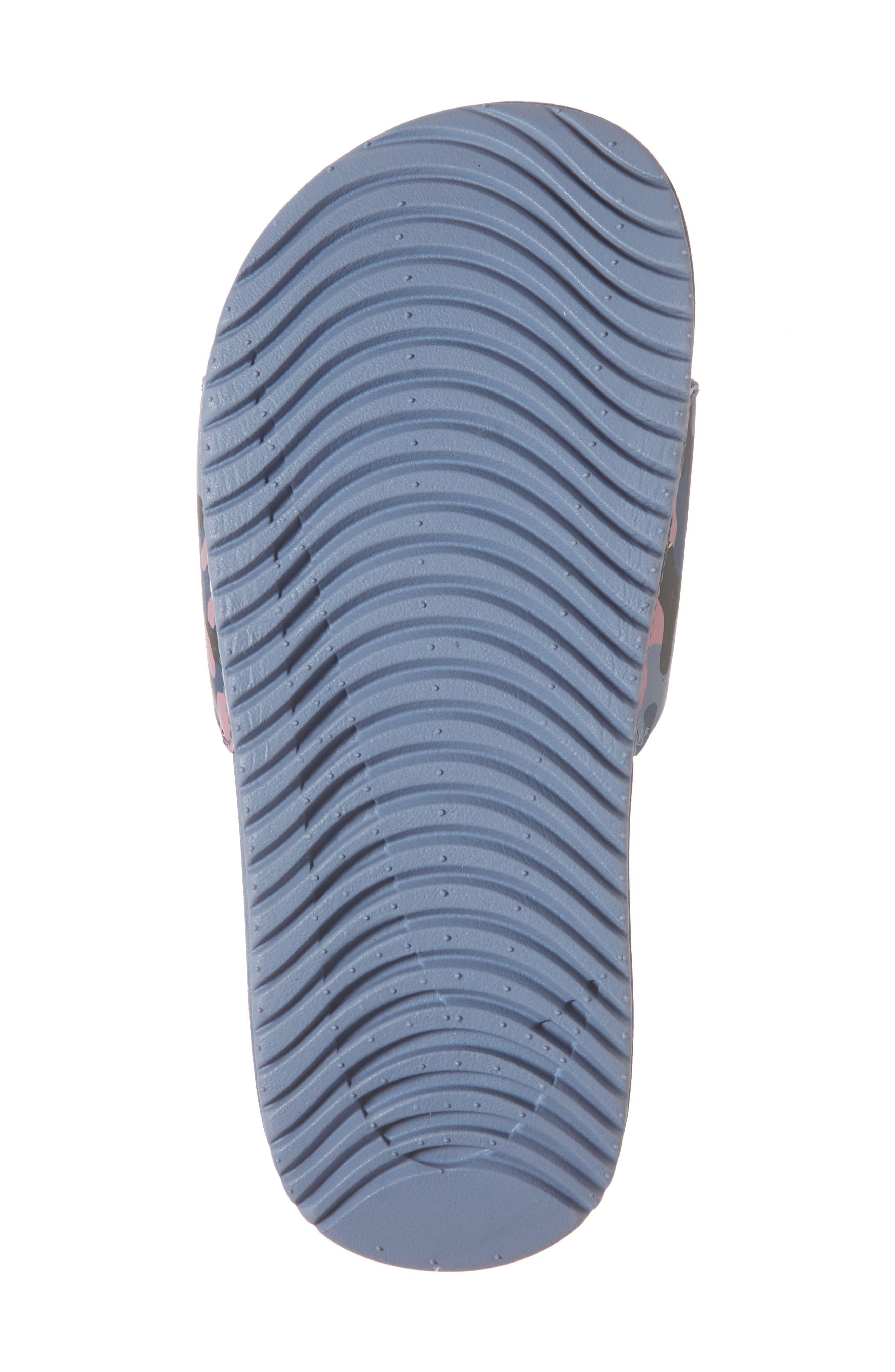 Kawa Slide Sandal,                             Alternate thumbnail 6, color,                             SLATE/ ROSE/ DIFFUSED BLUE
