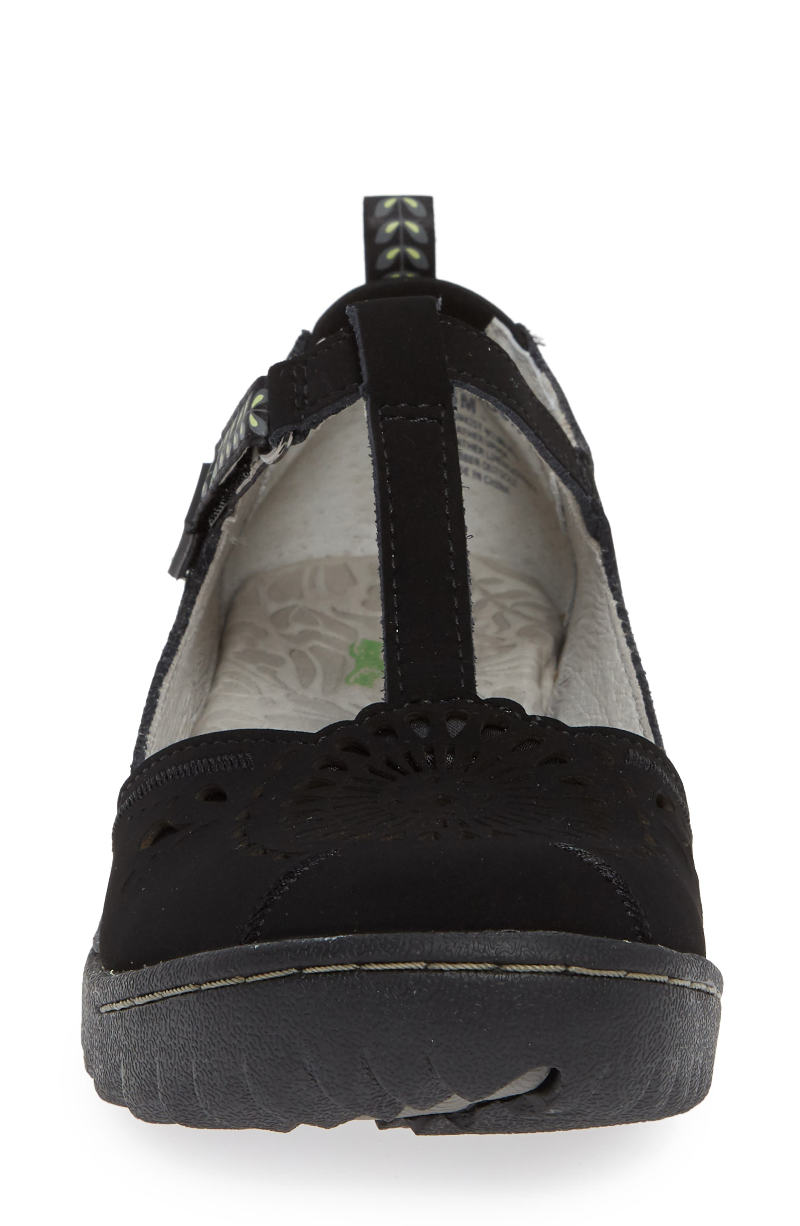 Sunkist Strappy Sneaker,                             Alternate thumbnail 4, color,                             BLACK/ CHIVE NUBUCK LEATHER