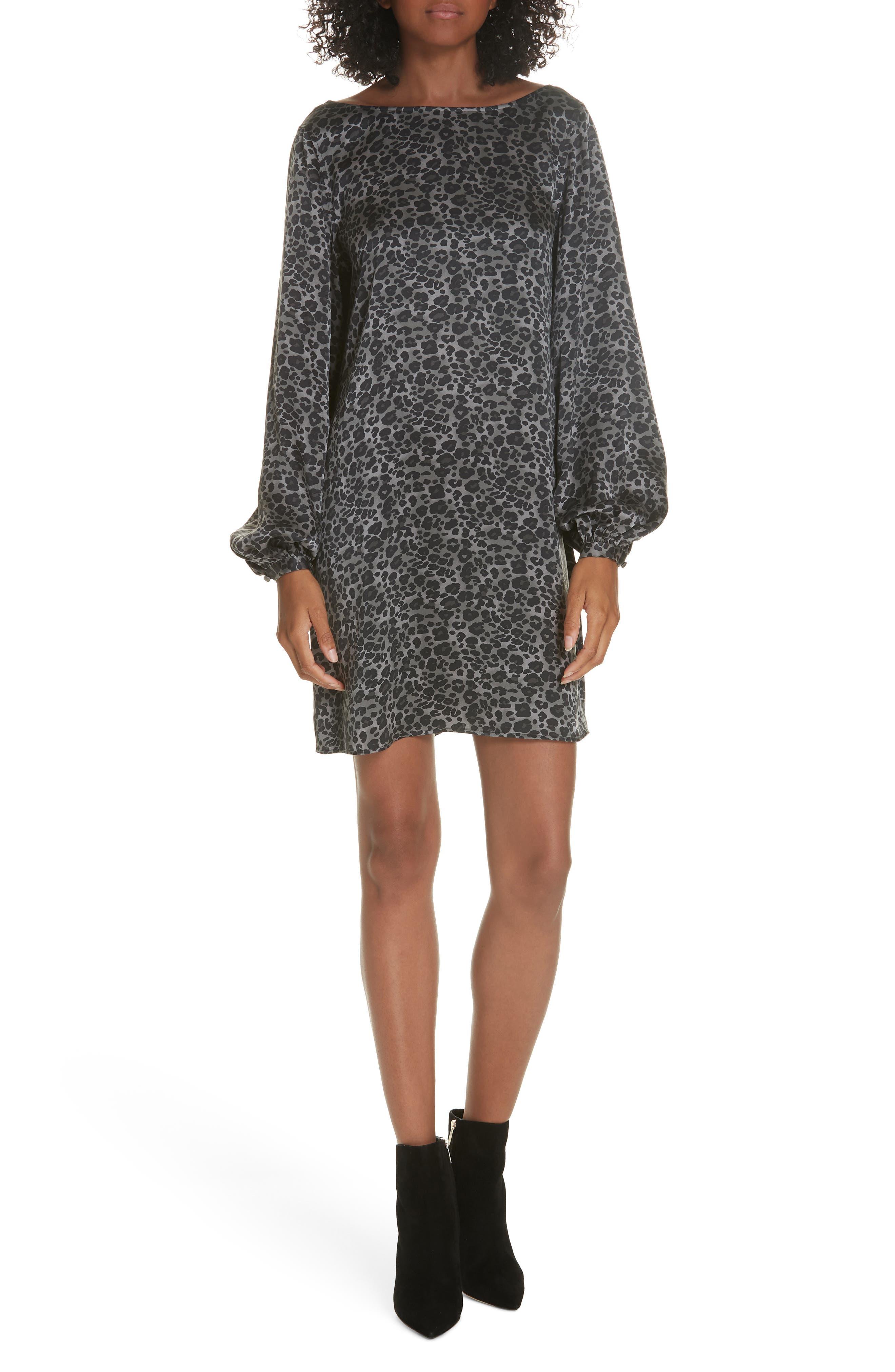 Equipment Zipporah V-Back Silk Shift Dress, Black