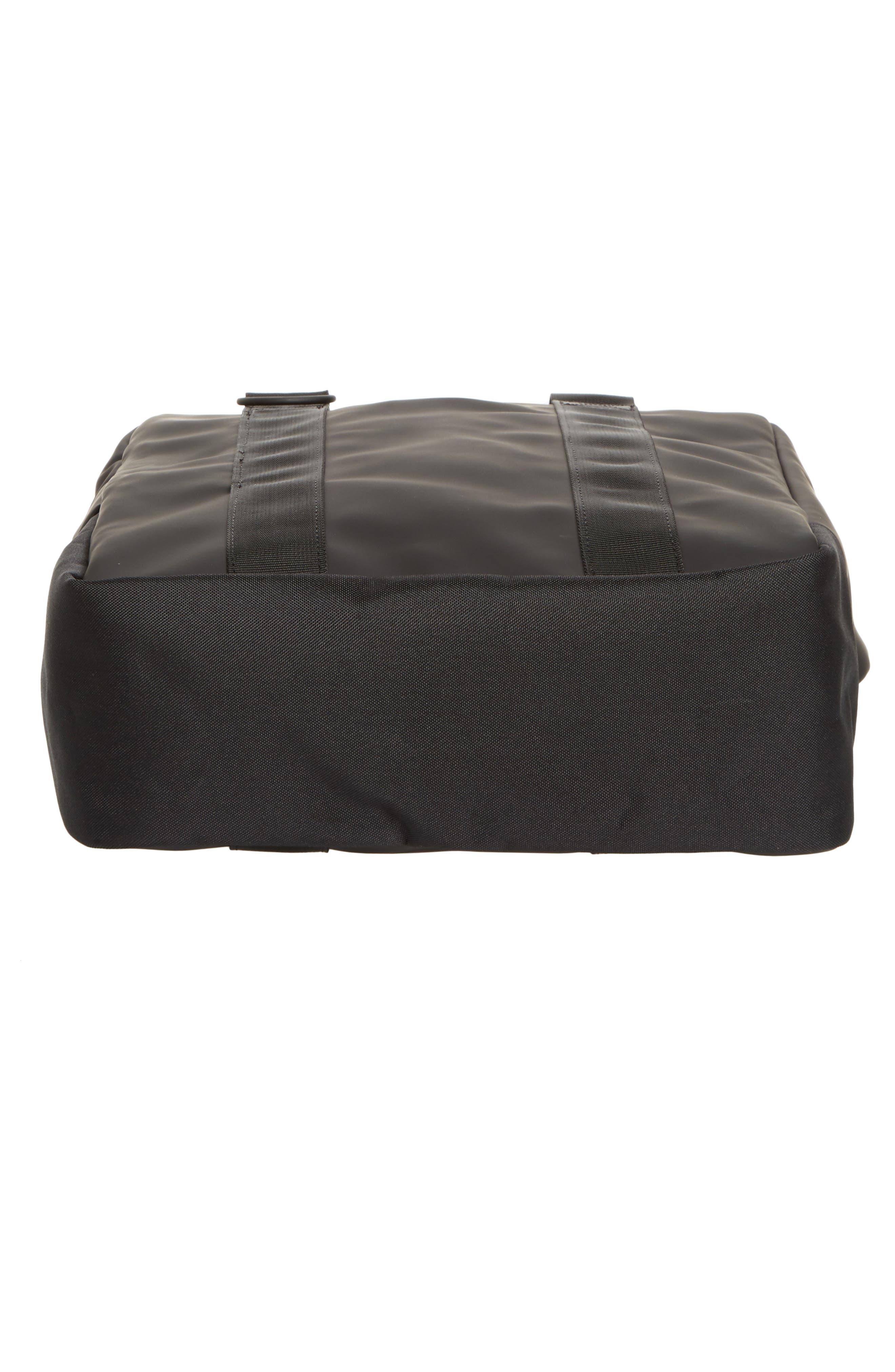 Waterproof Utility Tote Bag,                             Alternate thumbnail 6, color,                             BLACK