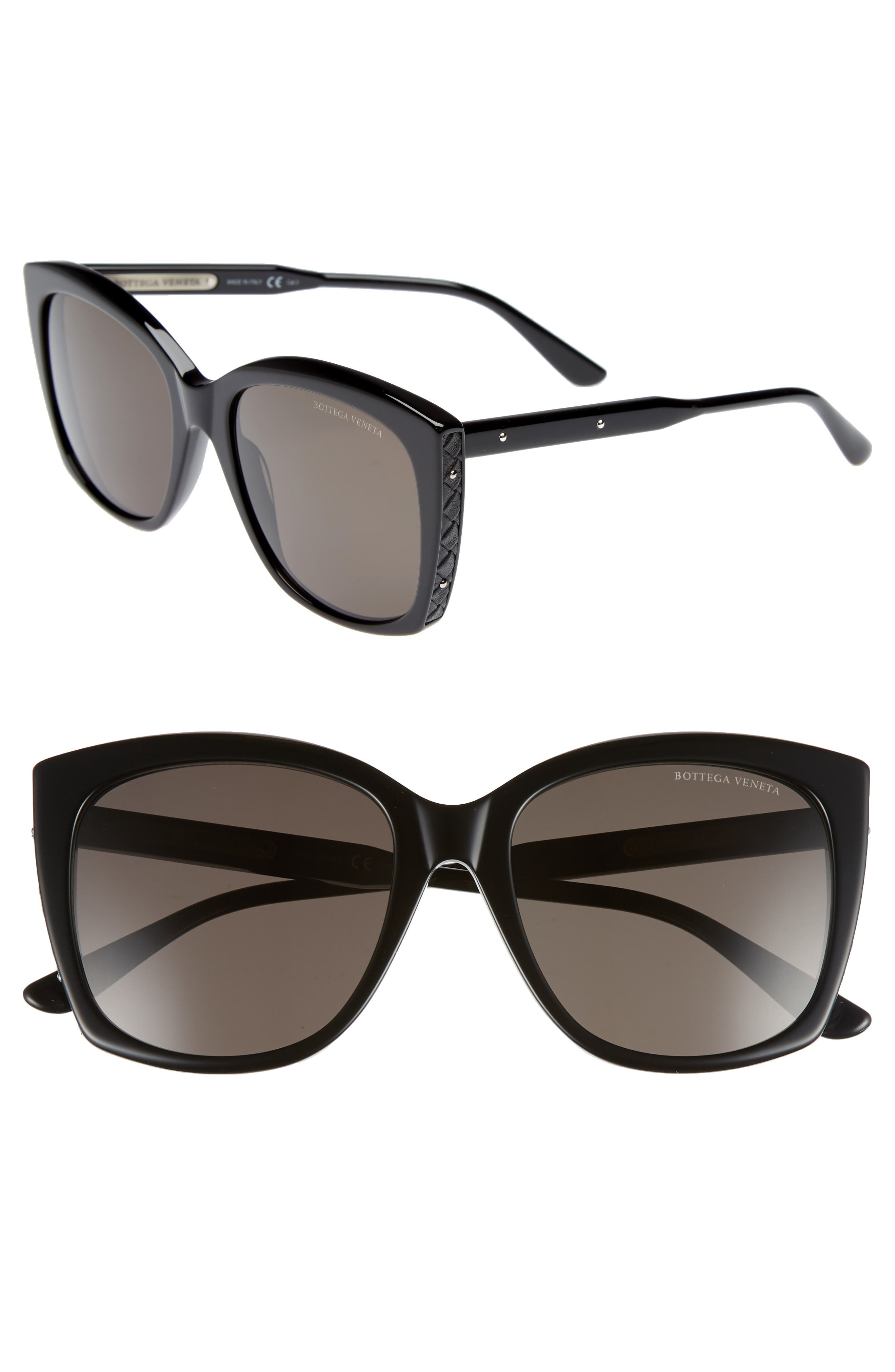 Women'S Anti-Reflective Cat Eye Sunglasses, 58Mm in Black