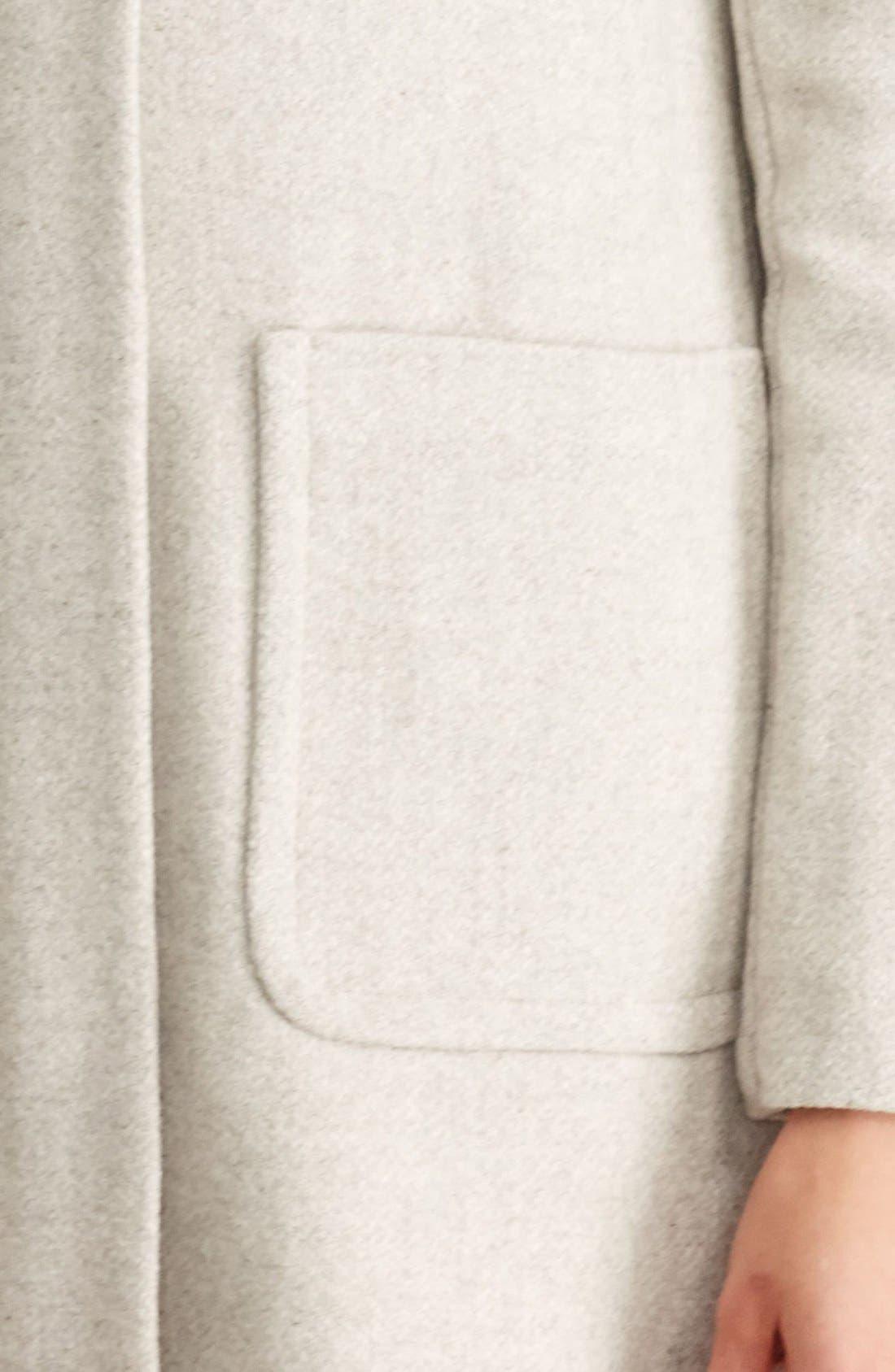 LAUREN RALPH LAUREN,                             Wool Blend Coat with Faux Fur Collar,                             Alternate thumbnail 5, color,                             068