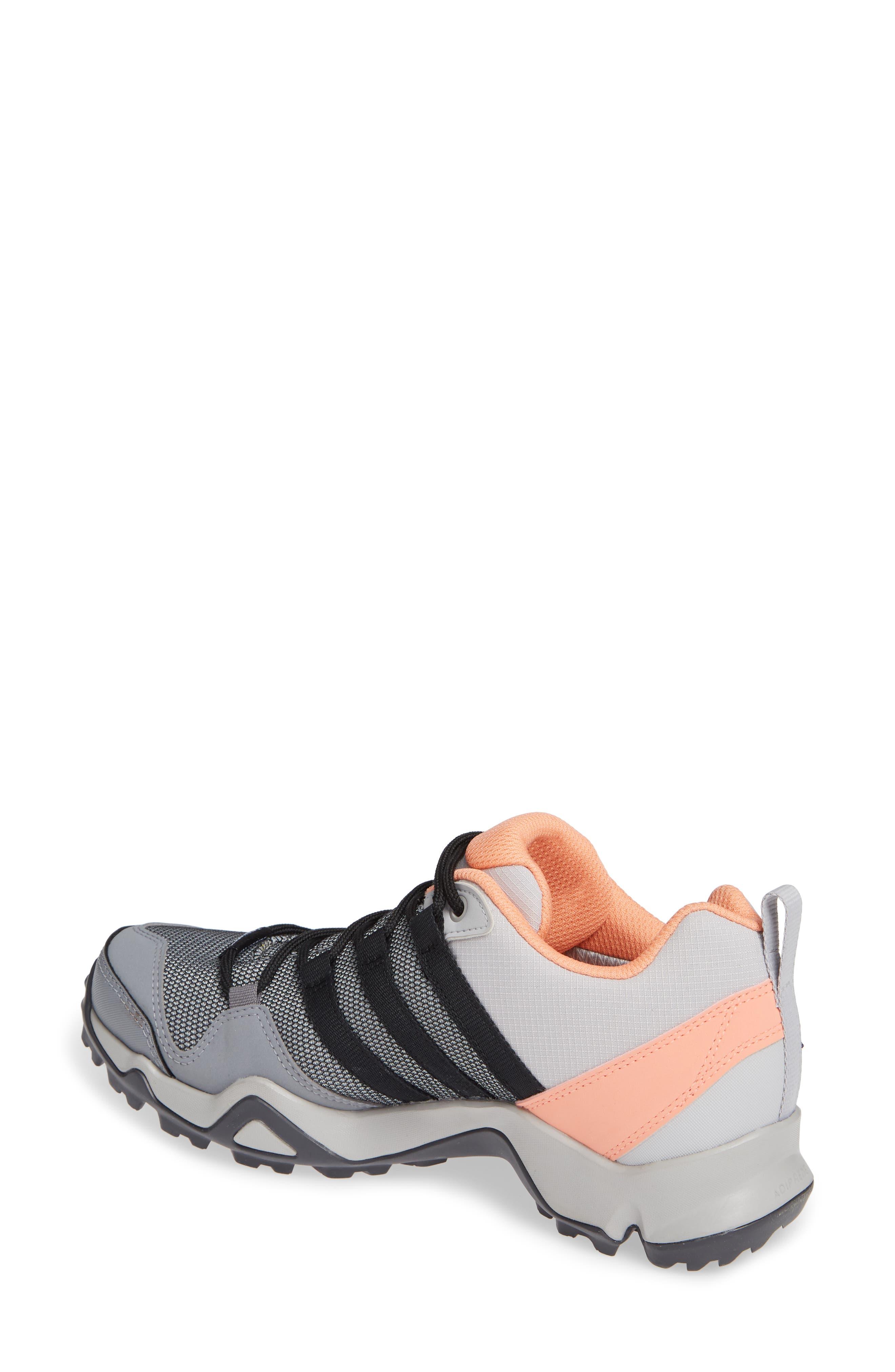 Terrex AX2 CLIMAPROOF<sup>®</sup> Hiking Shoe,                             Alternate thumbnail 2, color,                             GREY/ BLACK/ CHALK CORAL