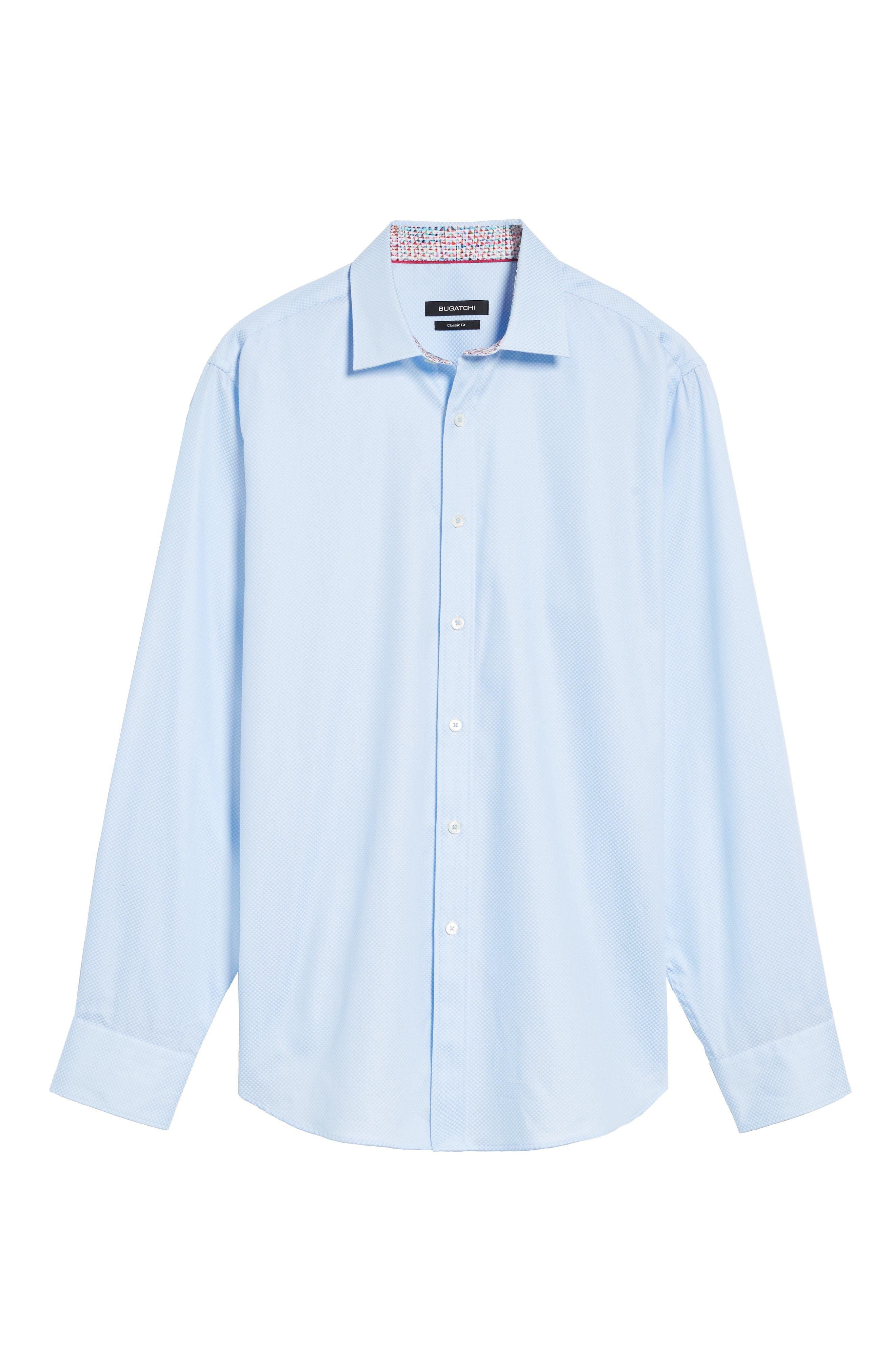 Classic Fit Diamond Print Sport Shirt,                             Alternate thumbnail 6, color,                             459