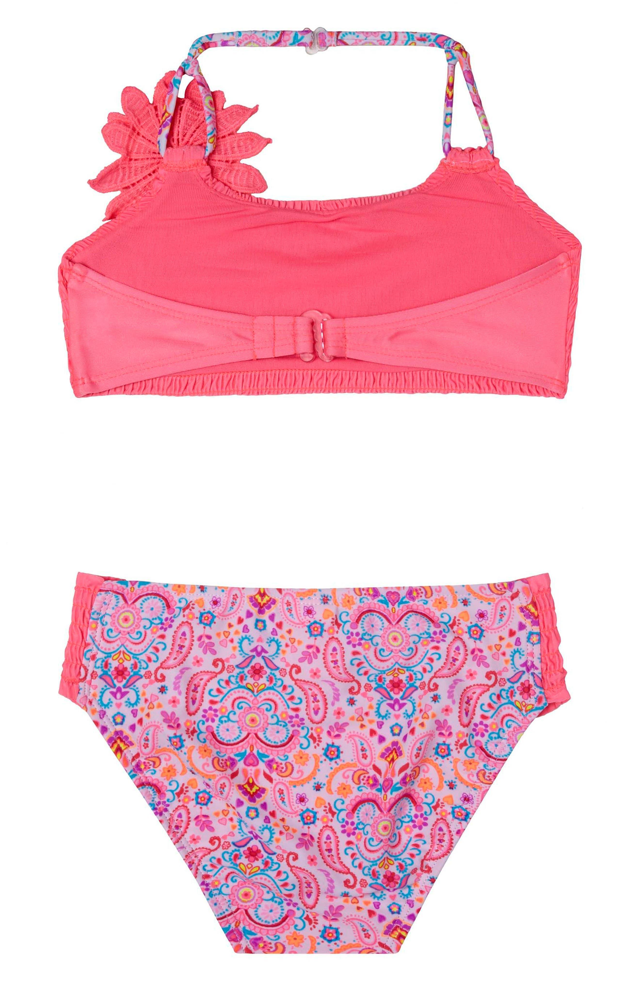Pretty PaisleyTwo-Piece Swimsuit,                             Main thumbnail 1, color,                             650