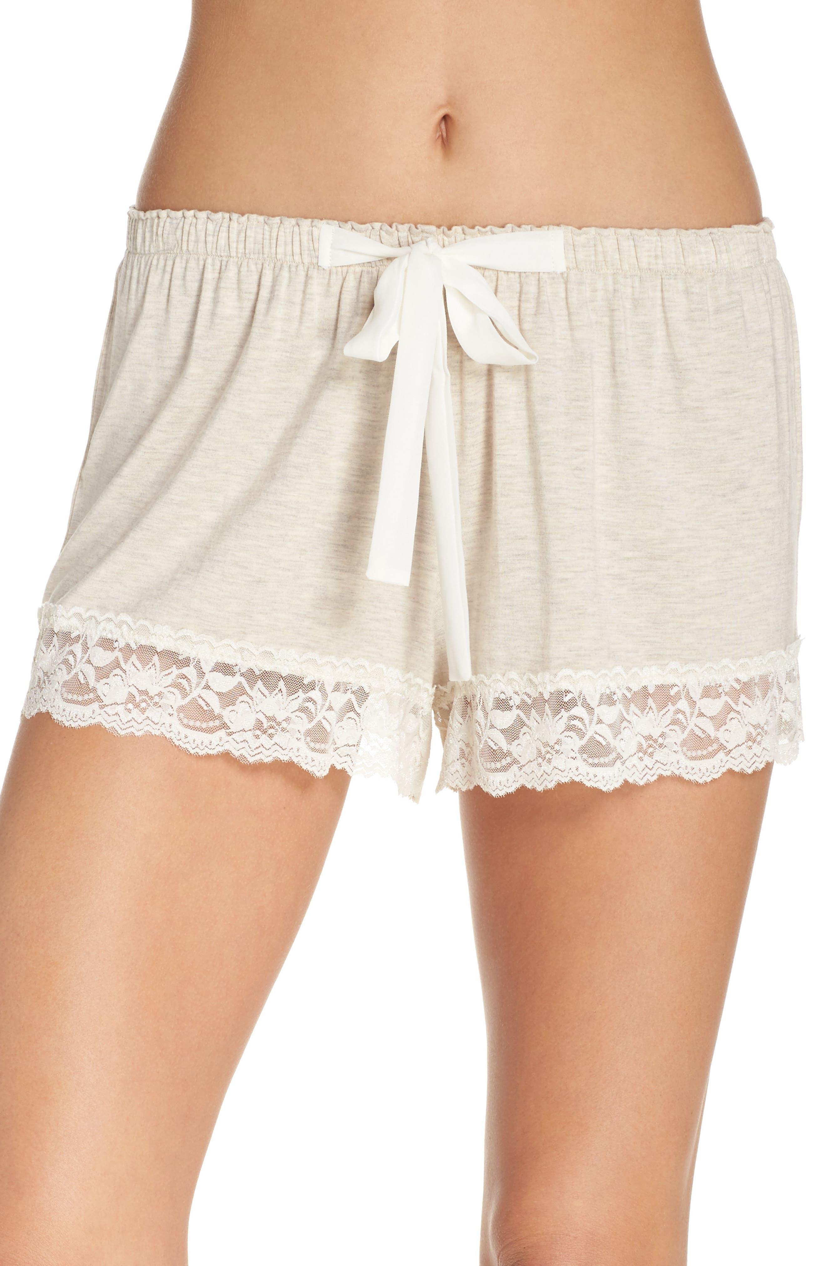 Flora Nikrooz Snuggle Lounge Shorts,                         Main,                         color, OATMEAL